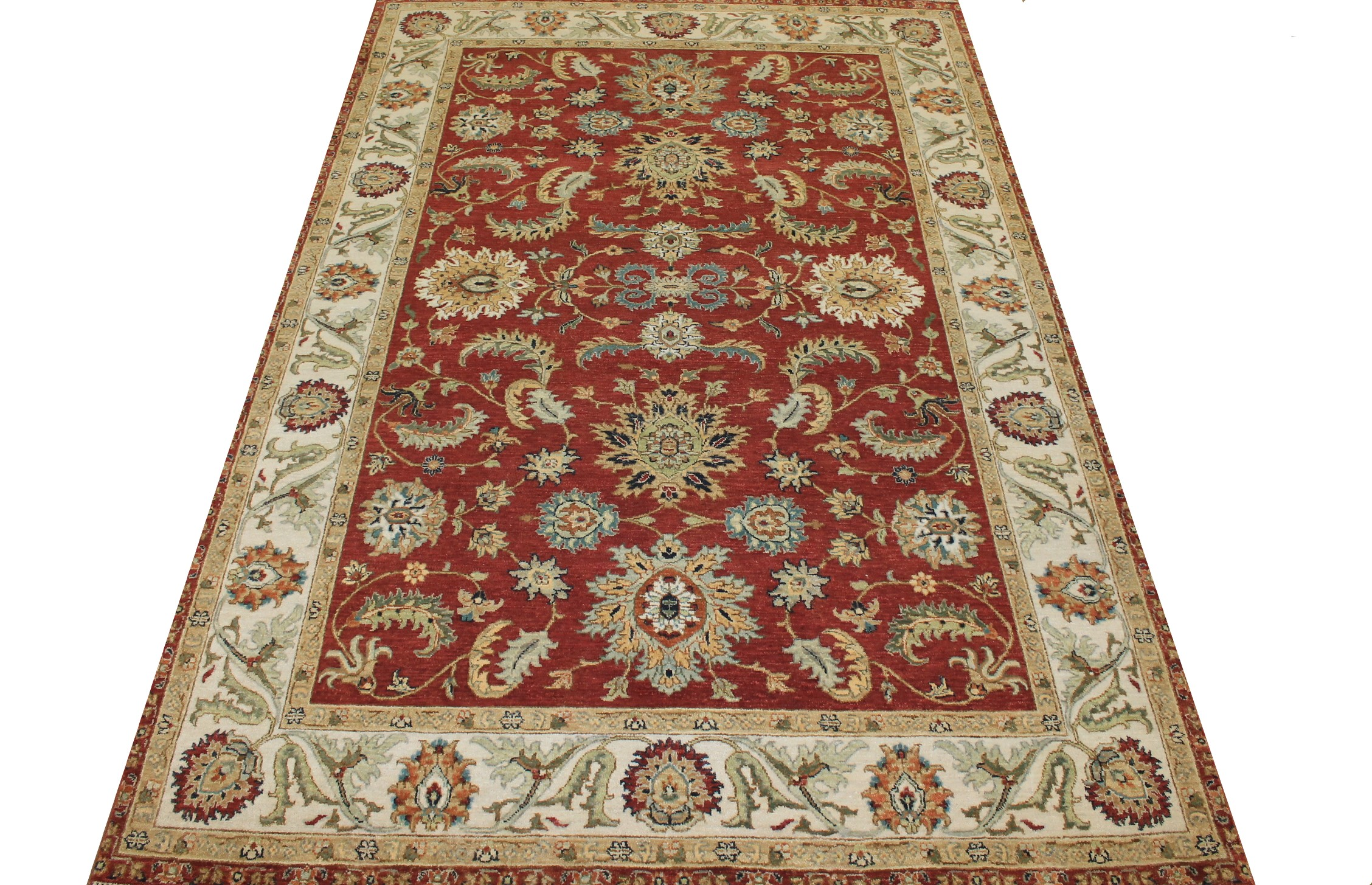6x9 Traditional Hand Knotted Wool Area Rug - MR024941