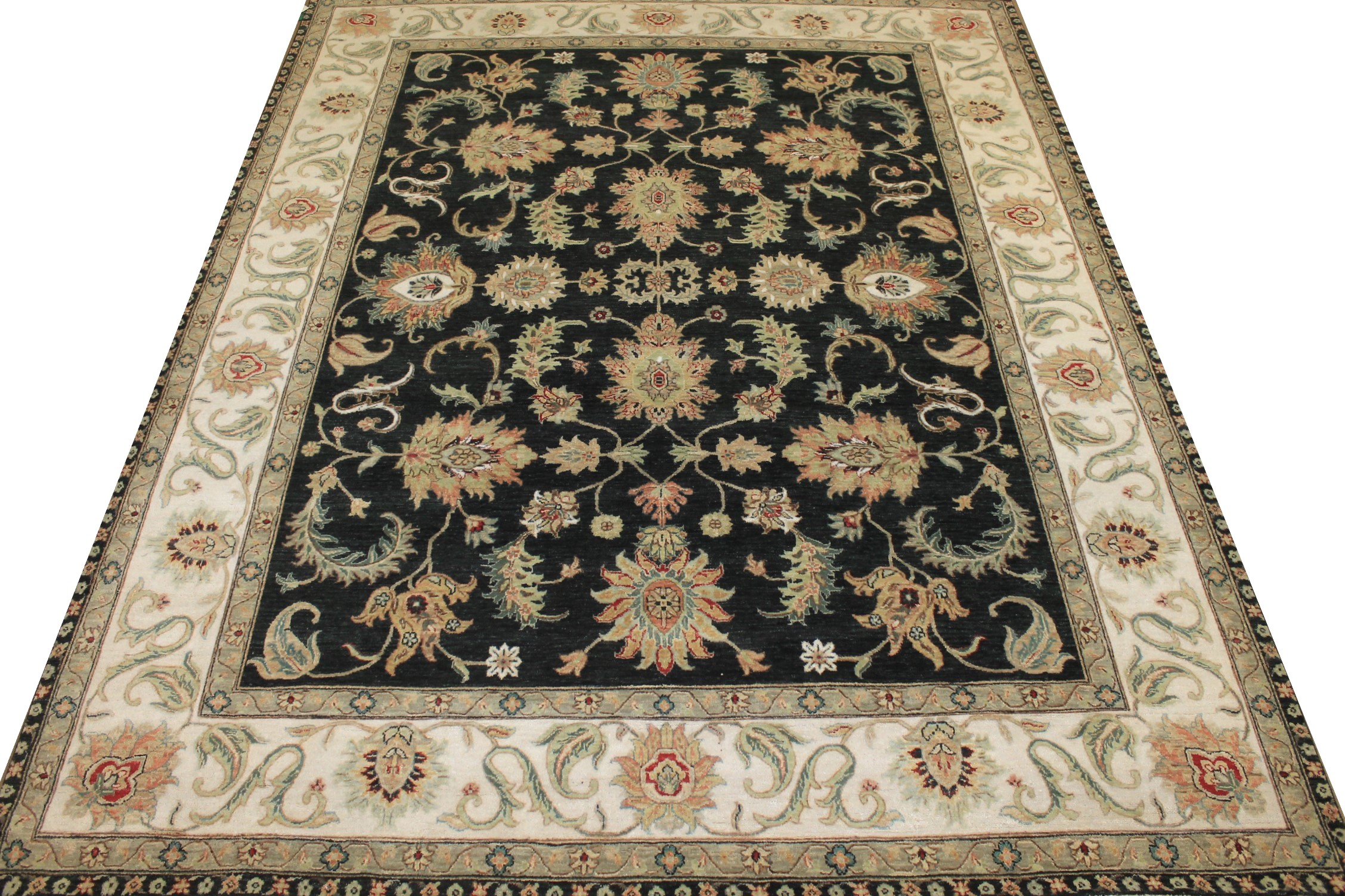 8x10 Traditional Hand Knotted Wool Area Rug - MR024942