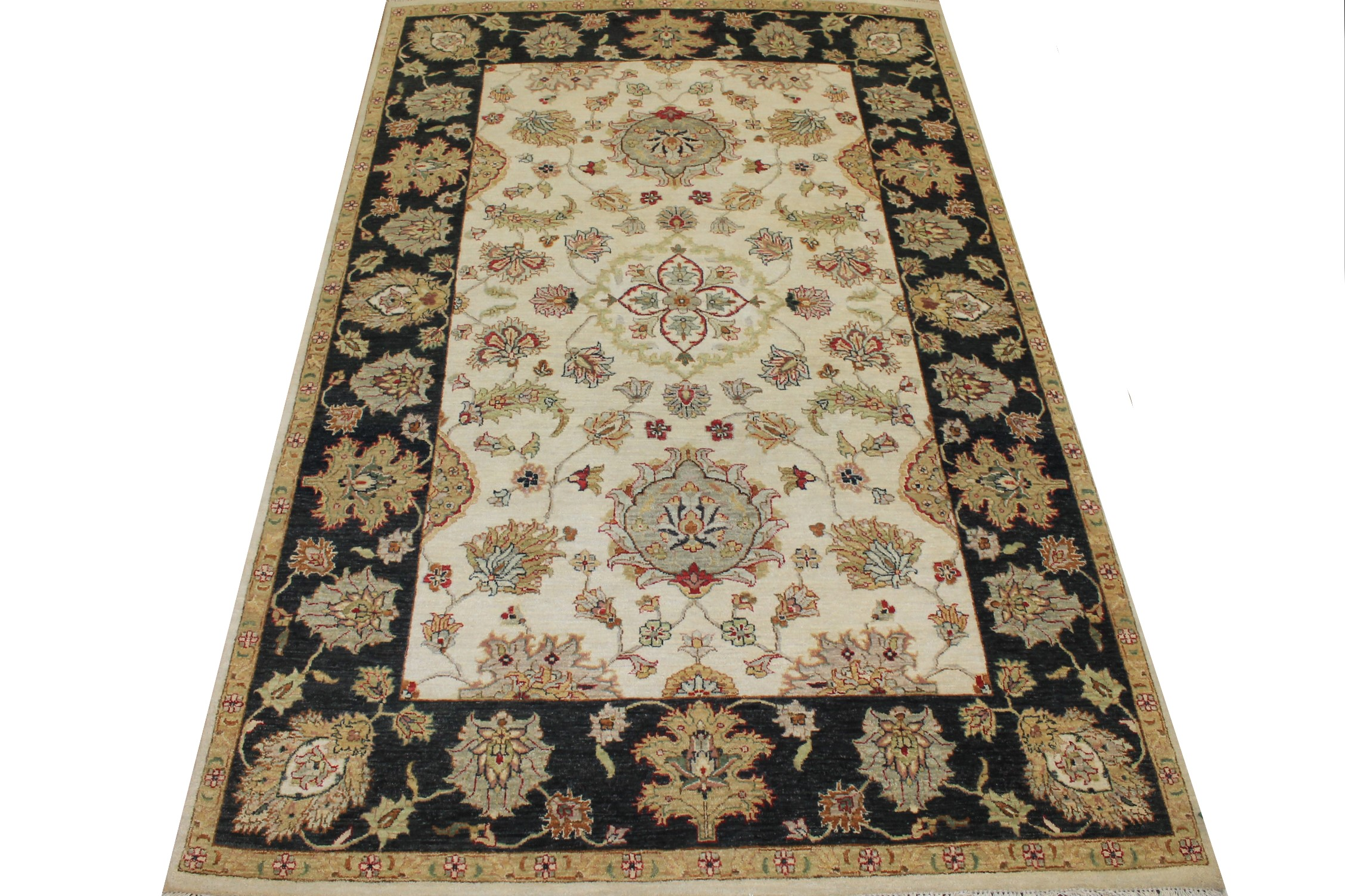 6x9 Traditional Hand Knotted Wool Area Rug - MR024944