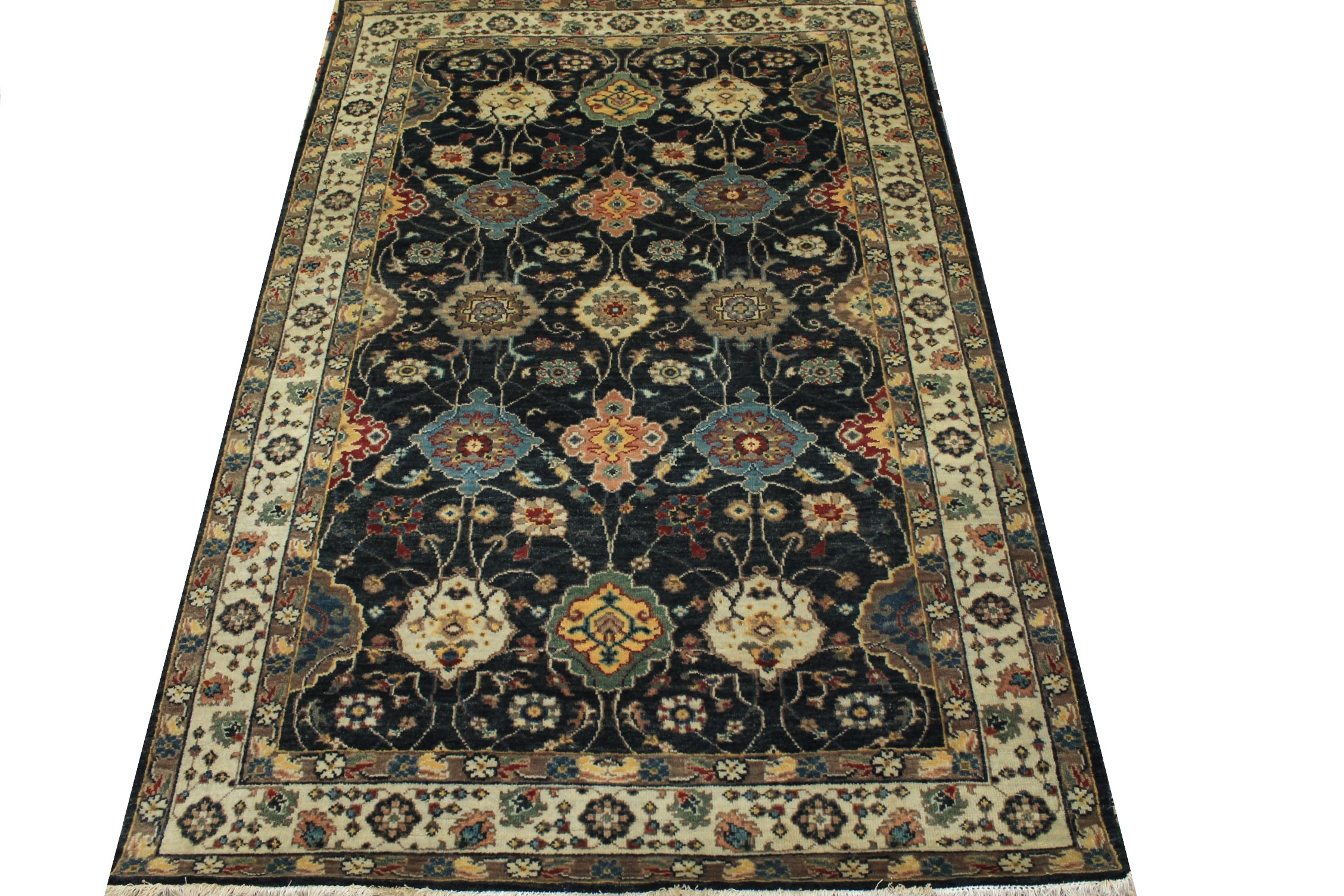 4x6 Traditional Hand Knotted Wool Area Rug - MR024975