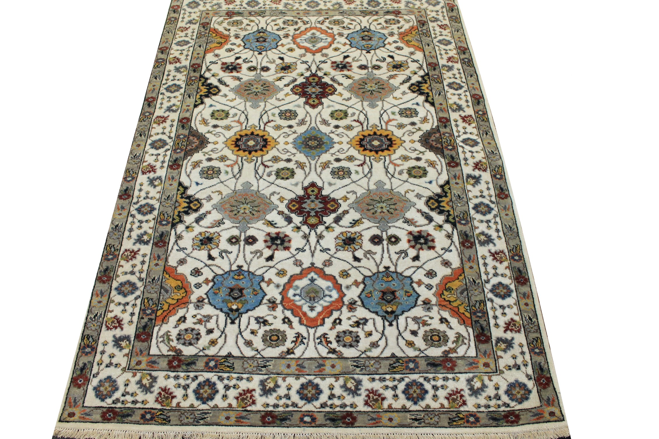 4x6 Traditional Hand Knotted Wool Area Rug - MR024976