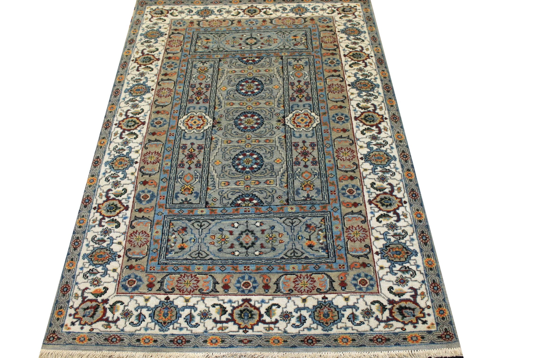 4x6 Traditional Hand Knotted Wool Area Rug - MR024977