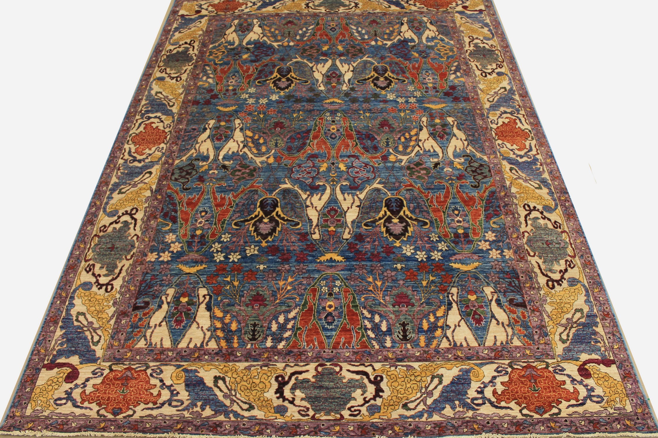 10x14 Antique Revival Hand Knotted Wool Area Rug - MR024991