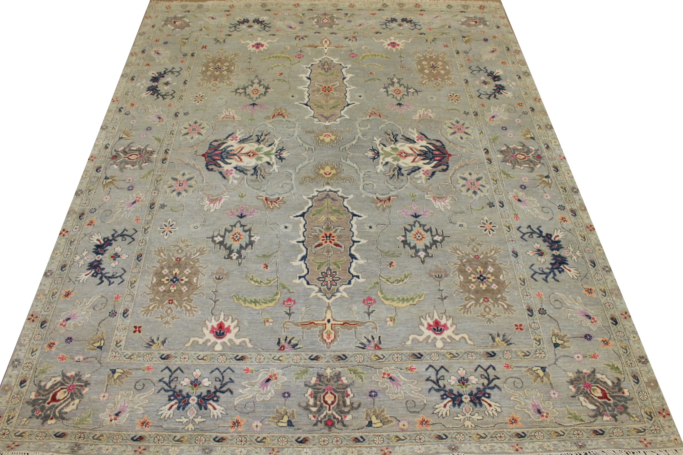 8x10 Traditional Hand Knotted Wool Area Rug - MR025001