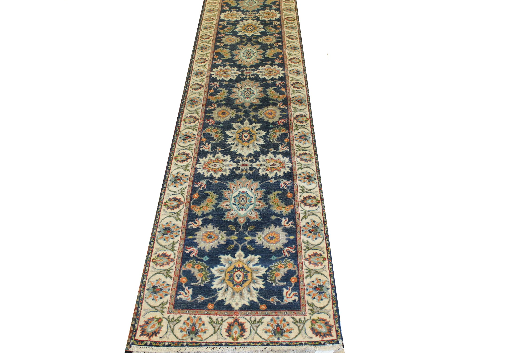 12 ft. Runner Traditional Hand Knotted Wool Area Rug - MR025009