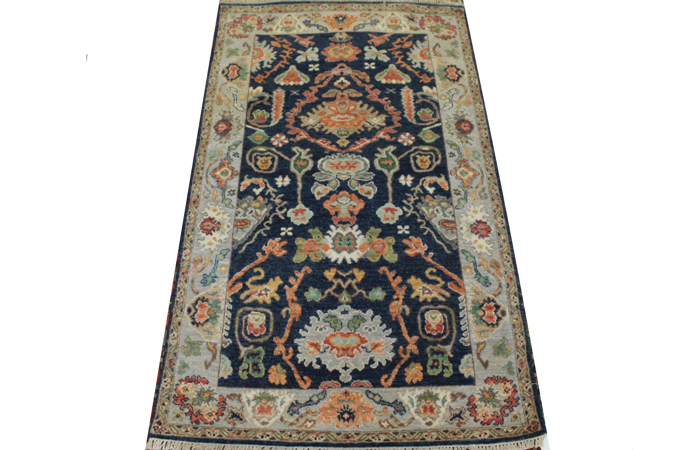 3x5 Traditional Hand Knotted Wool Area Rug - MR025013