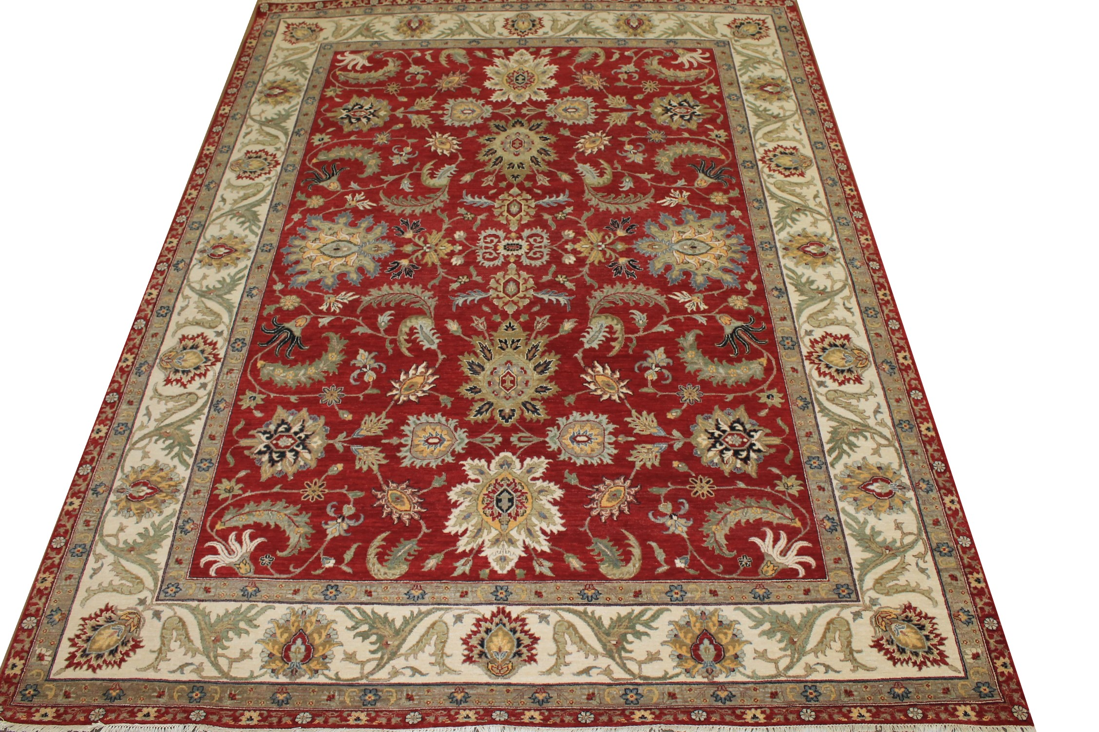 9x12 Traditional Hand Knotted Wool Area Rug - MR025042
