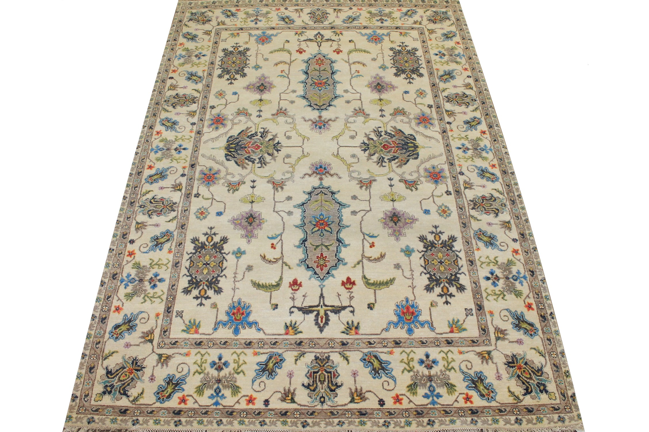 6x9 Traditional Hand Knotted Wool Area Rug - MR025050