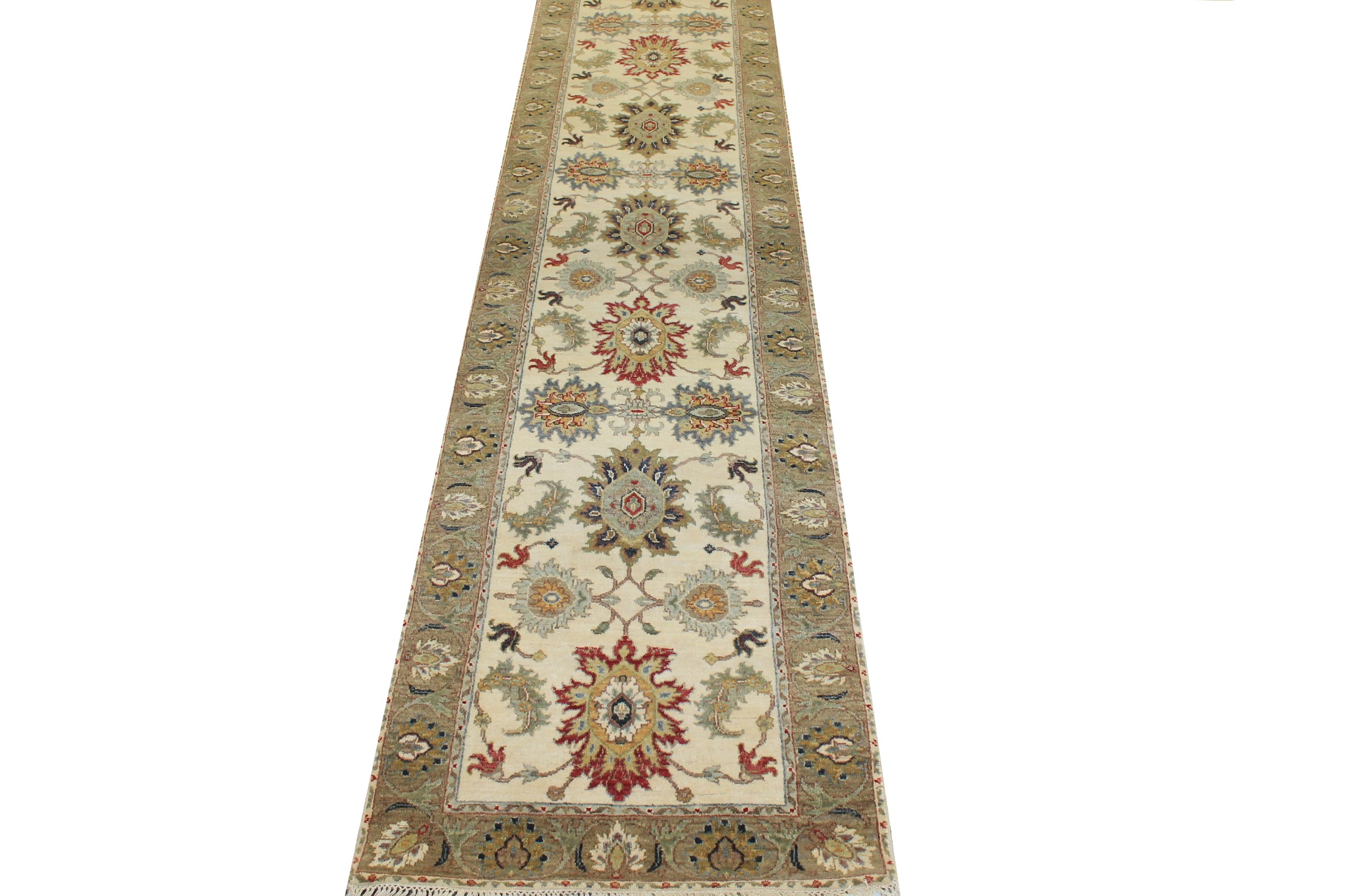12 ft. Runner Traditional Hand Knotted Wool Area Rug - MR025052