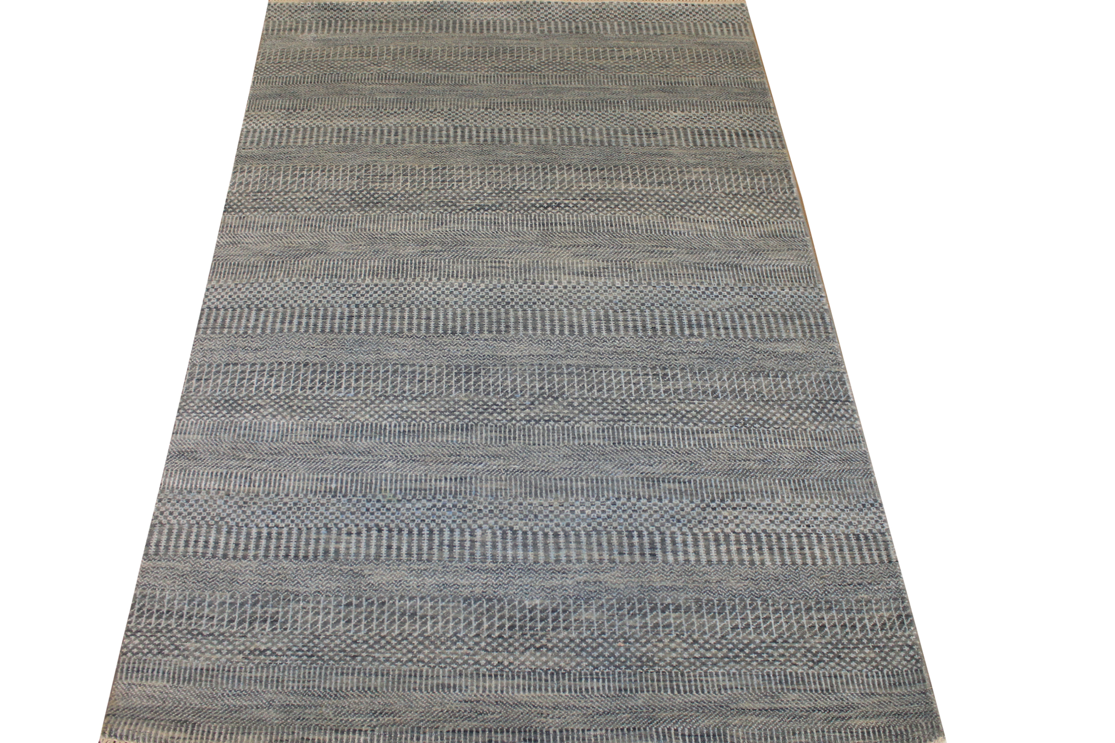 4x6 Casual Hand Knotted Wool & Viscose Area Rug - MR025103