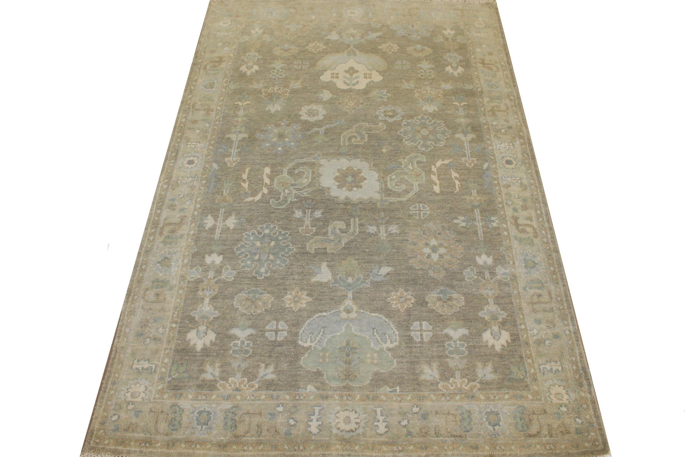 4x6 Oushak Hand Knotted Wool Area Rug - MR025140