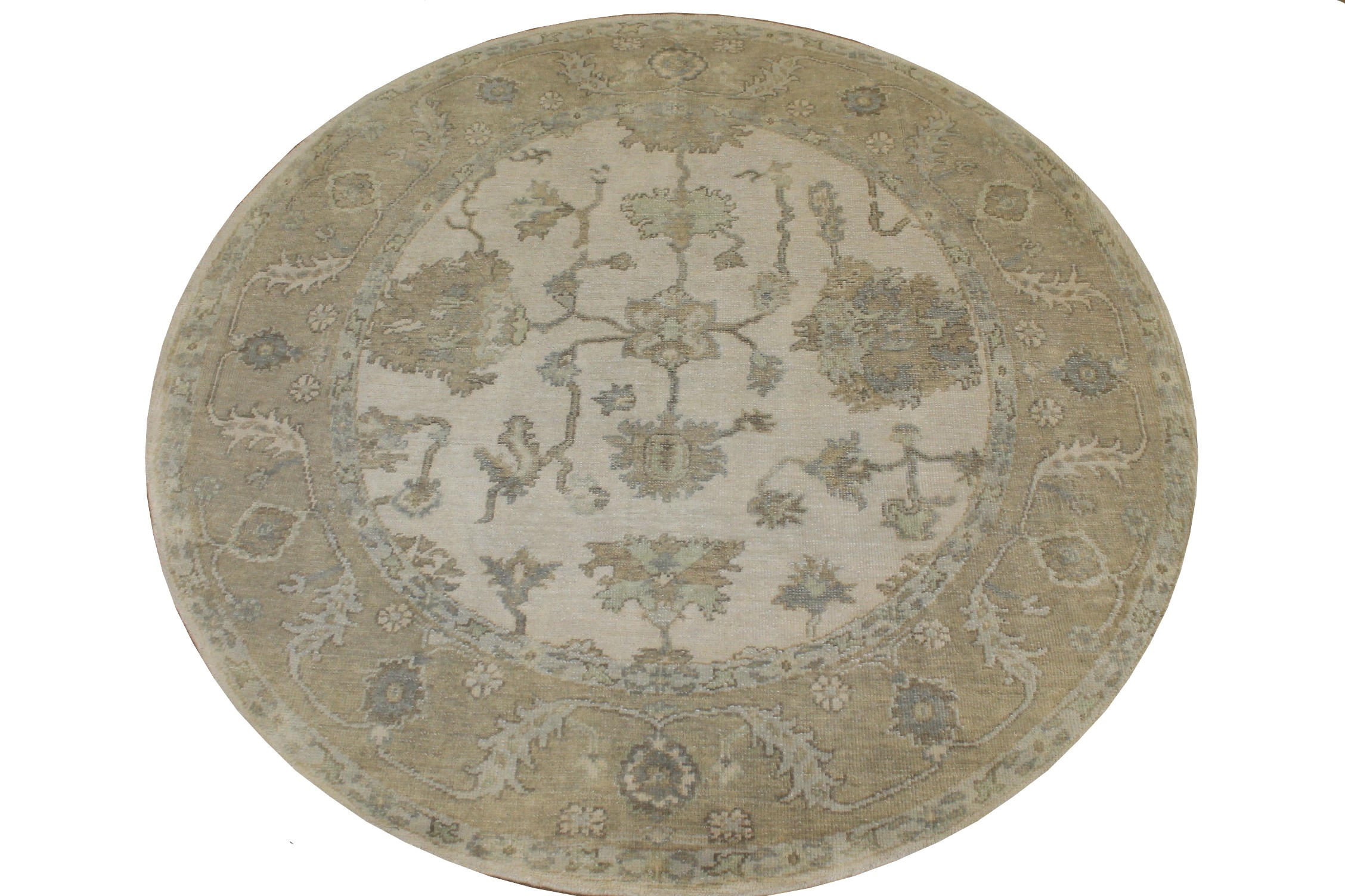 6 ft. - 7 ft. Round & Square Oushak Hand Knotted Wool Area Rug - MR025141