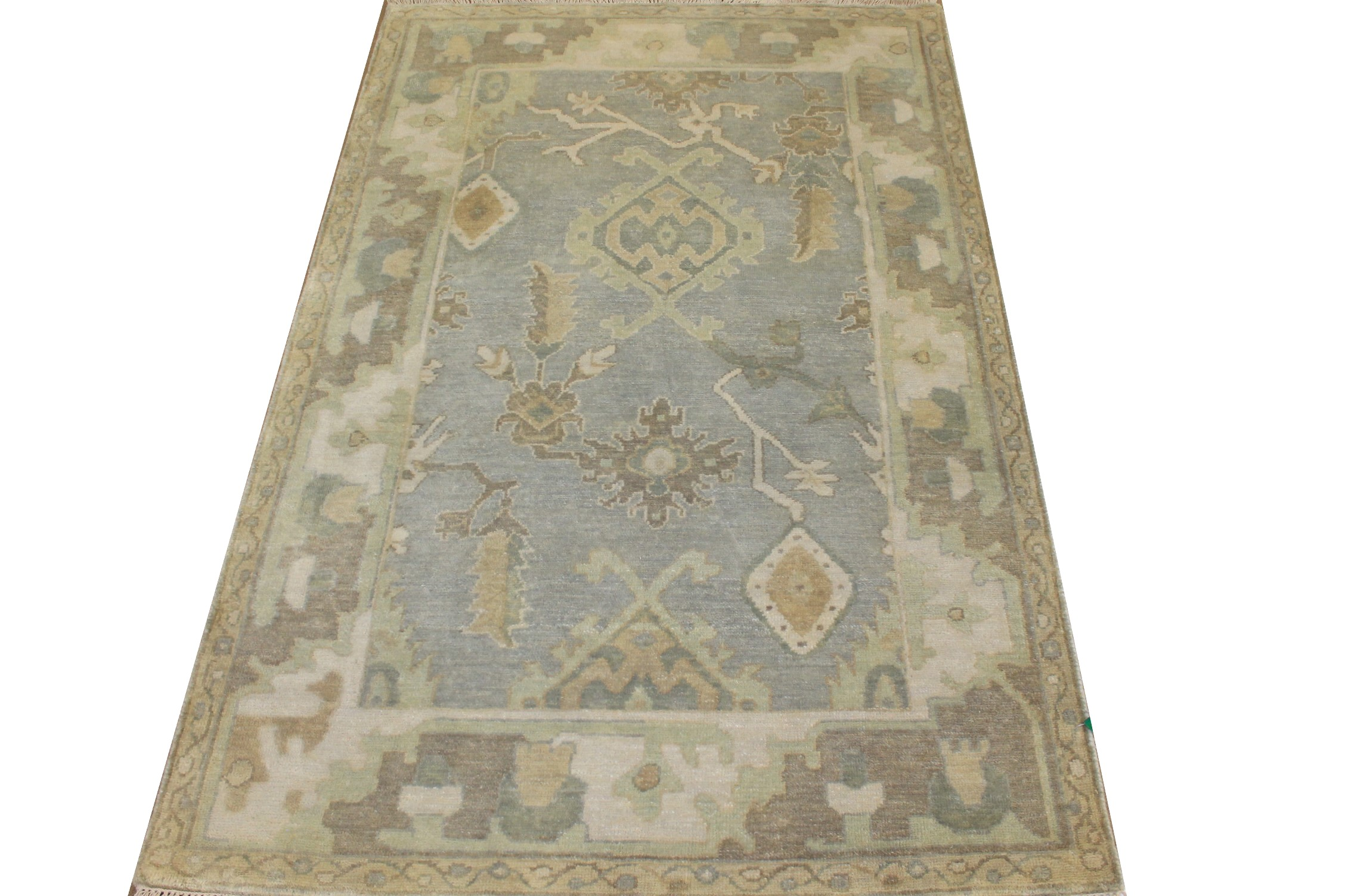 4x6 Oushak Hand Knotted Wool Area Rug - MR025142