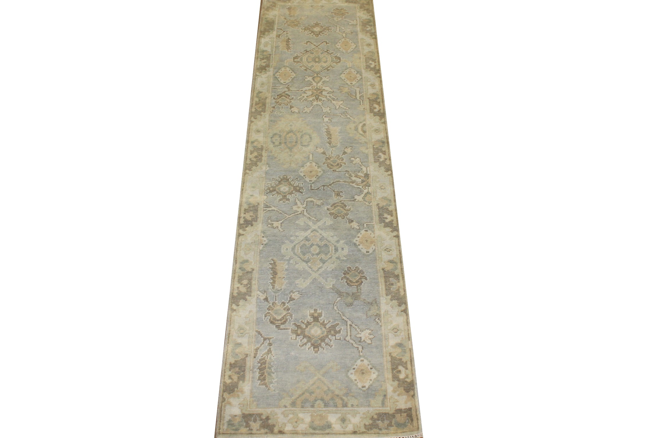 10 ft. Runner Oushak Hand Knotted Wool Area Rug - MR025146