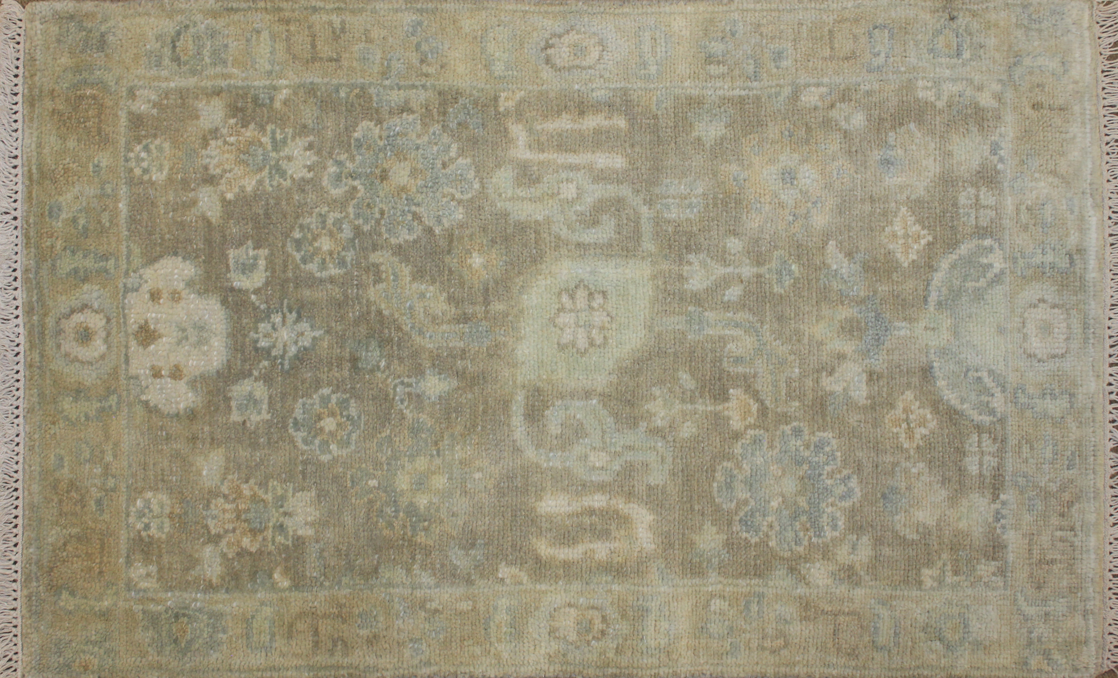 2X3 Oushak Hand Knotted Wool Area Rug - MR025150