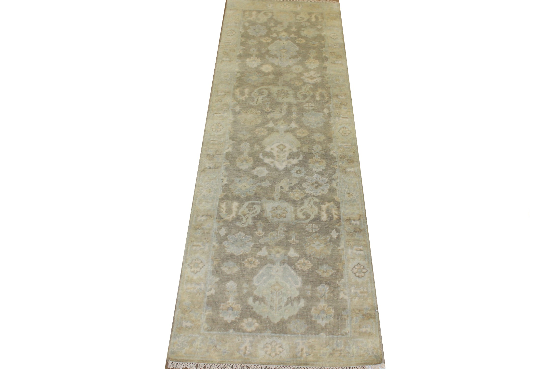 8 ft. Runner Oushak Hand Knotted Wool Area Rug - MR025151