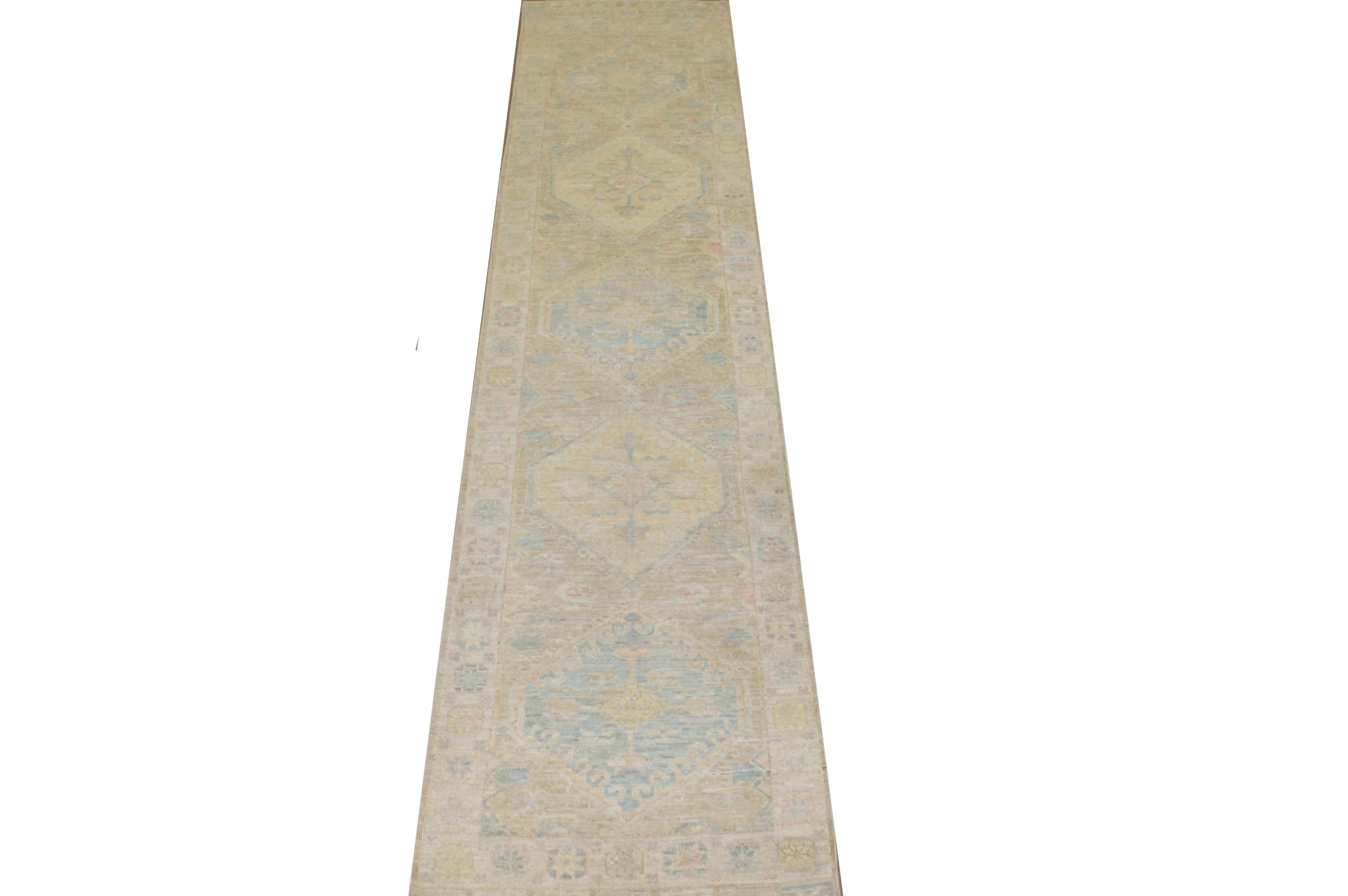 12 ft. Runner Oushak Hand Knotted Wool Area Rug - MR025173