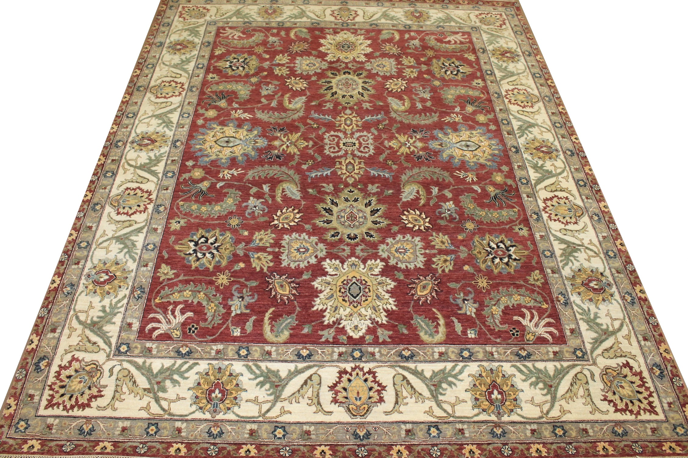 8x10 Traditional Hand Knotted Wool Area Rug - MR025187