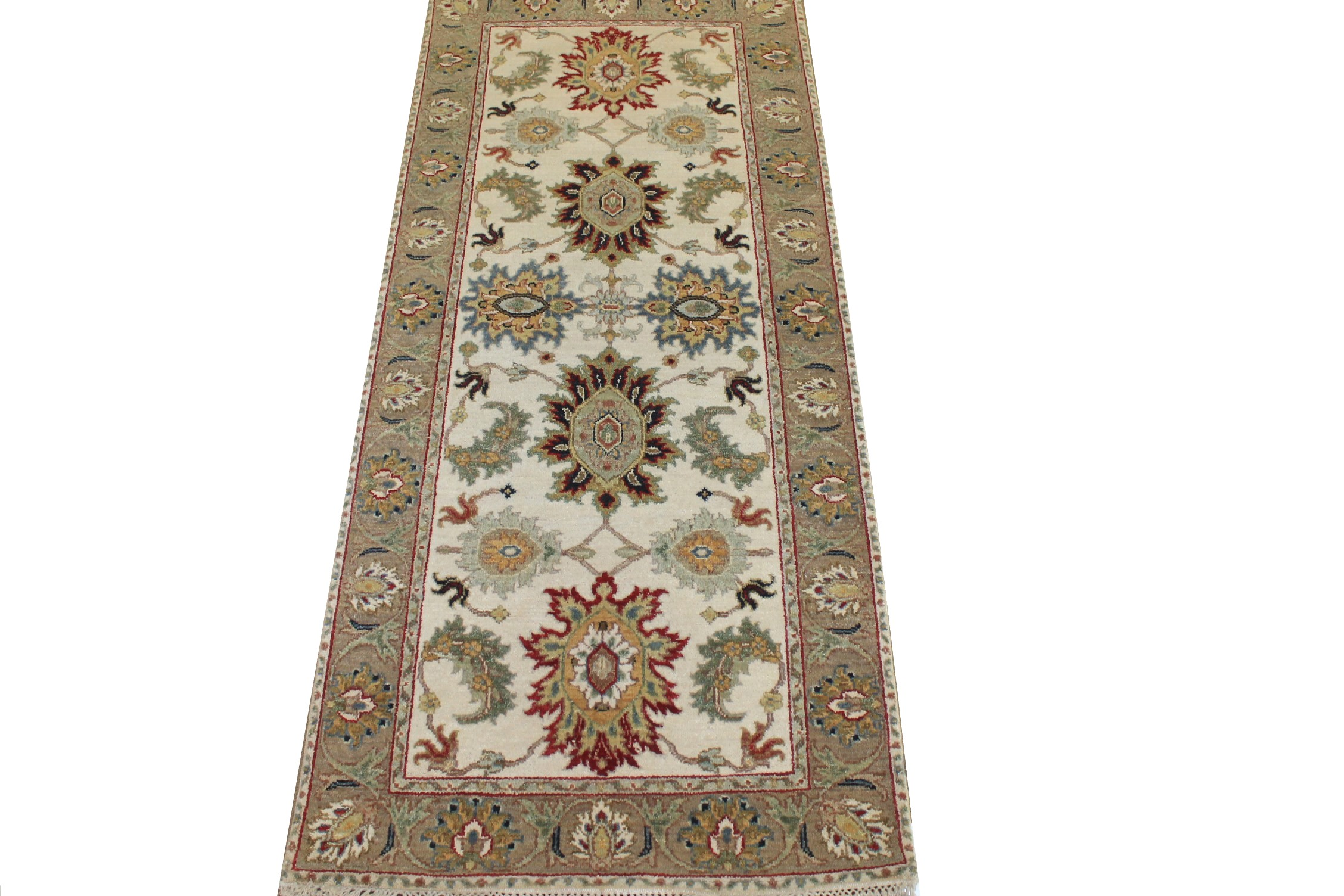 6 ft. Runner Traditional Hand Knotted Wool Area Rug - MR025196
