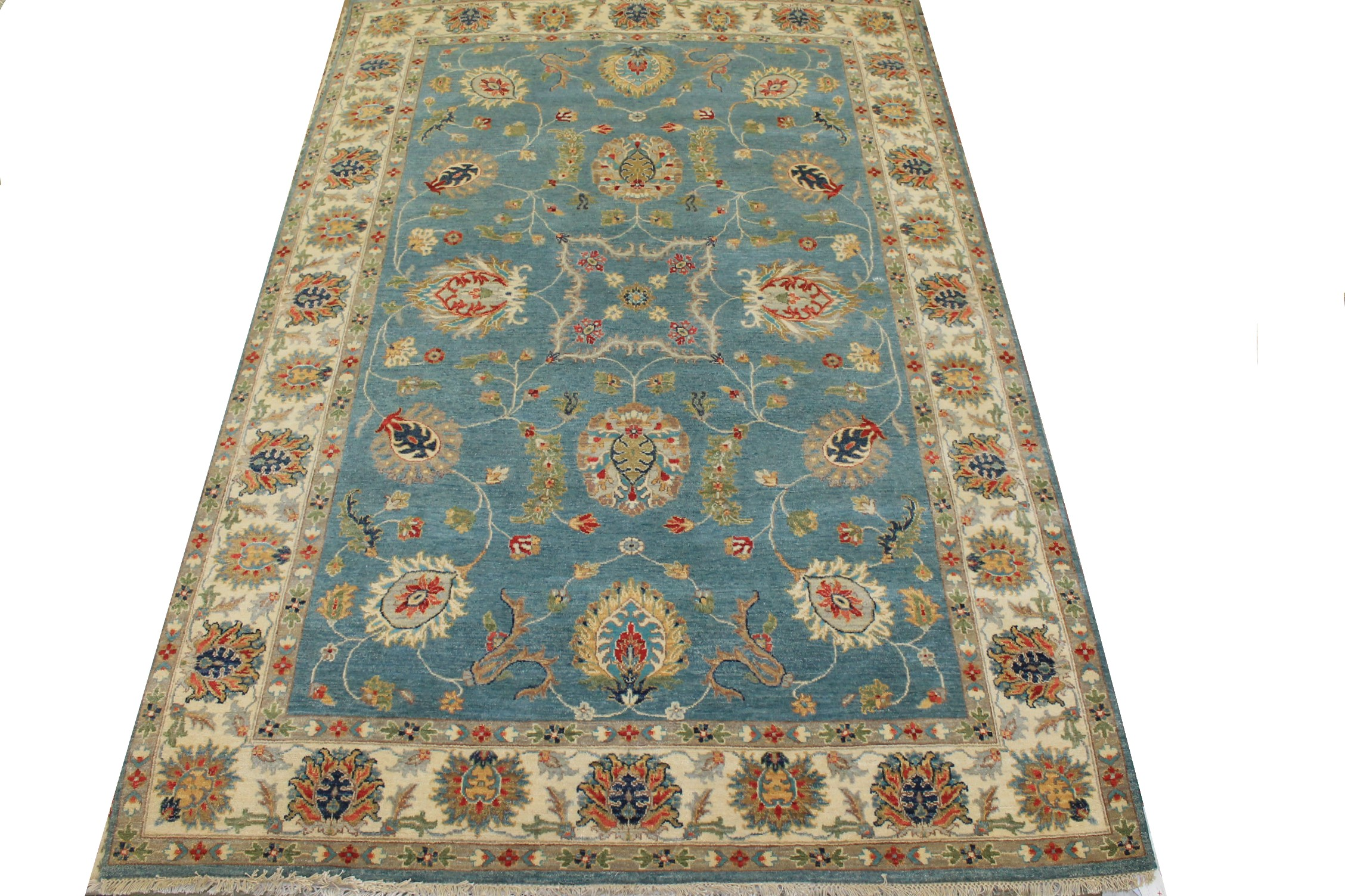 6x9 Traditional Hand Knotted Wool Area Rug - MR025212