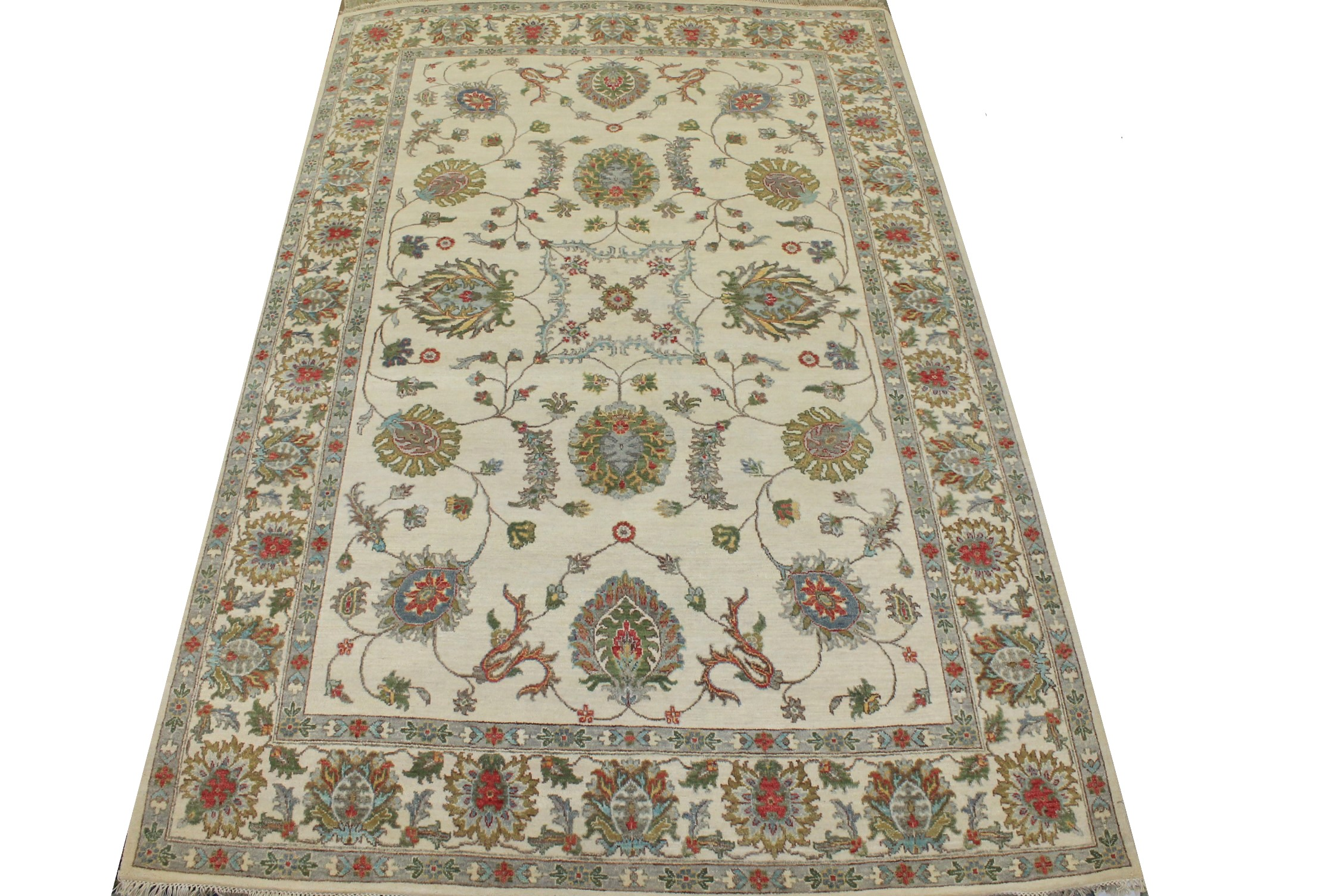 6x9 Traditional Hand Knotted Wool Area Rug - MR025213