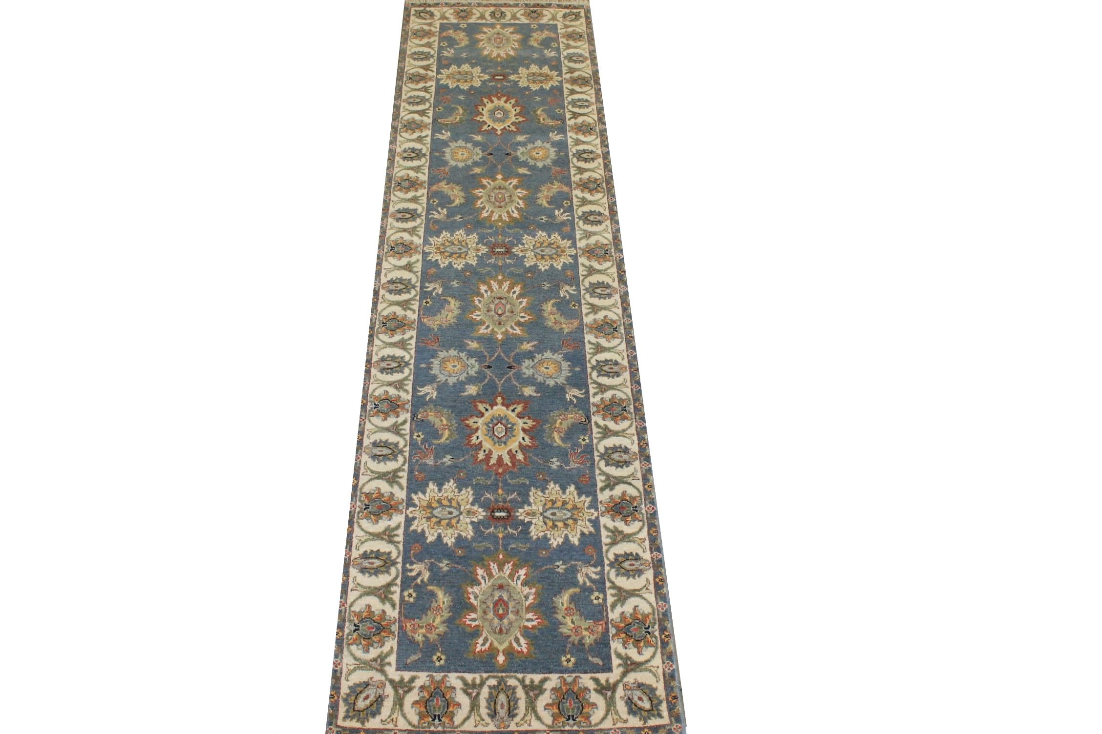 10 ft. Runner Traditional Hand Knotted Wool Area Rug - MR025221