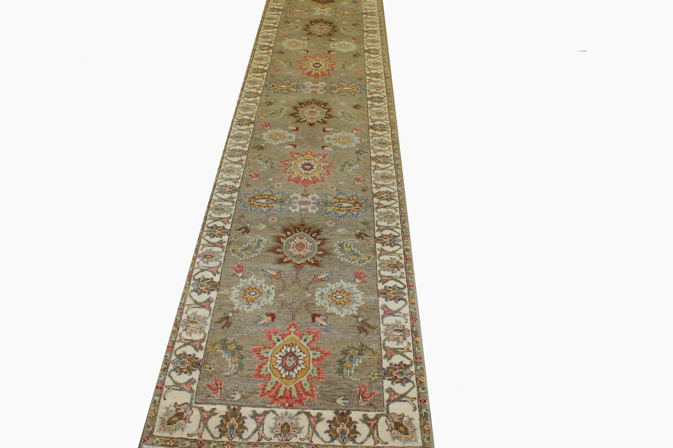 13 ft. & Longer Runner Traditional Hand Knotted Wool Area Rug - MR025223