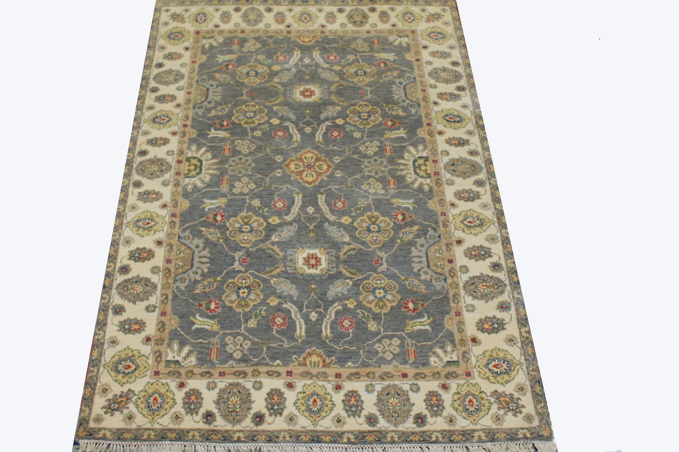 4x6 Traditional Hand Knotted Wool Area Rug - MR025234