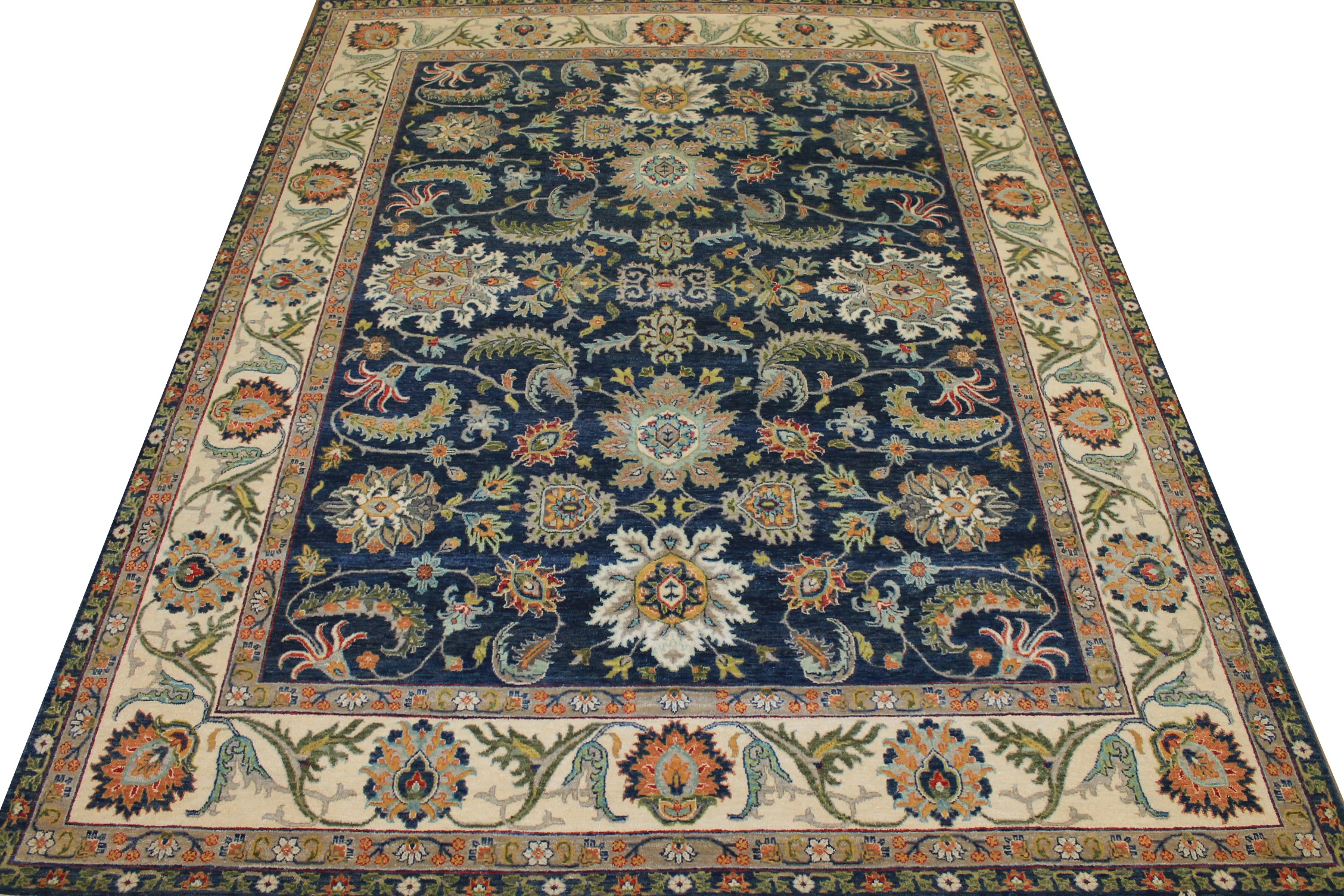 8x10 Traditional Hand Knotted Wool Area Rug - MR025239
