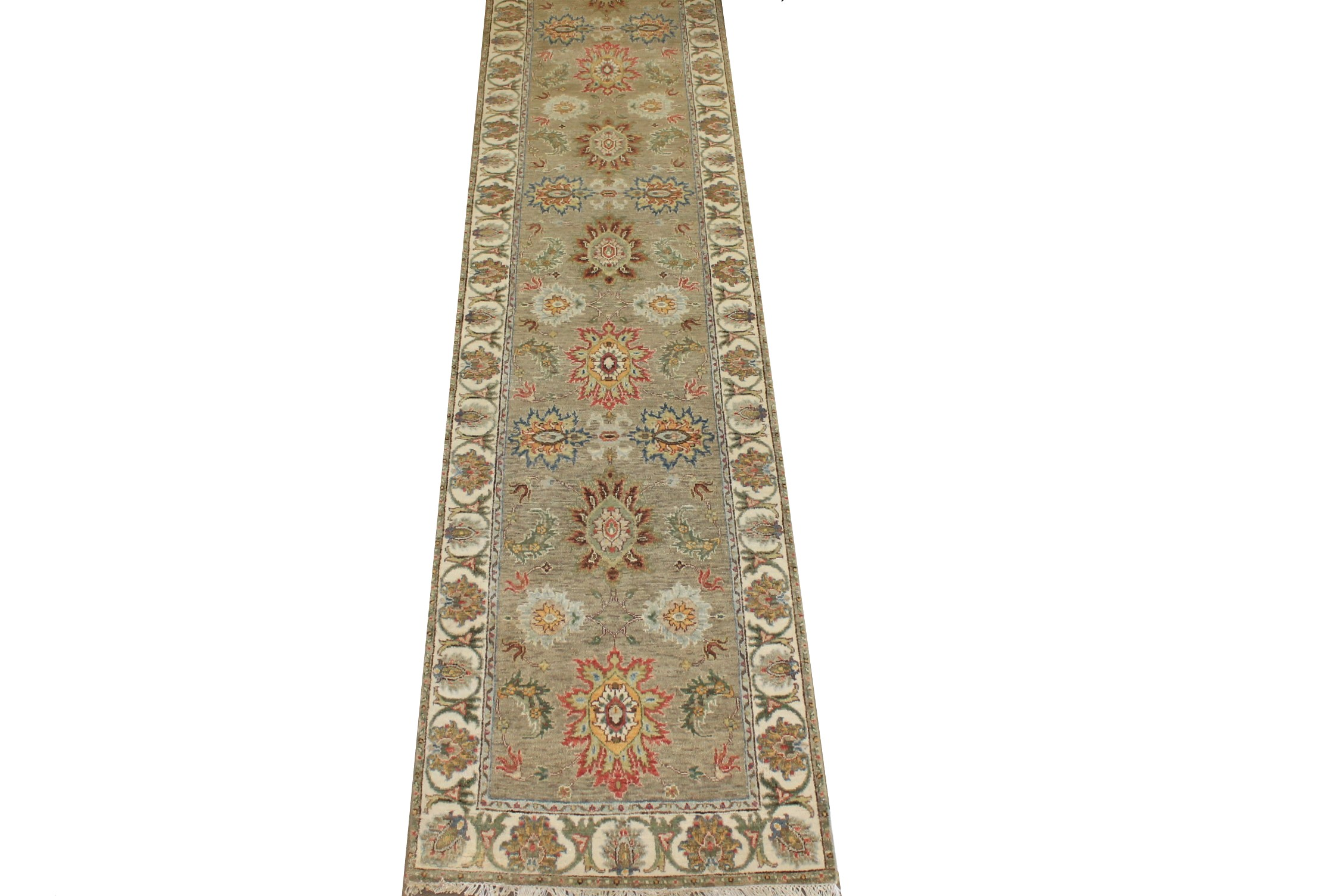 12 ft. Runner Traditional Hand Knotted Wool Area Rug - MR025244