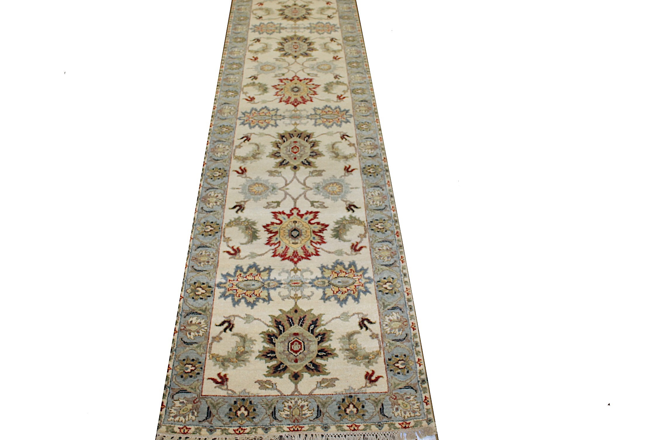 13 ft. & Longer Runner Traditional Hand Knotted Wool Area Rug - MR025247