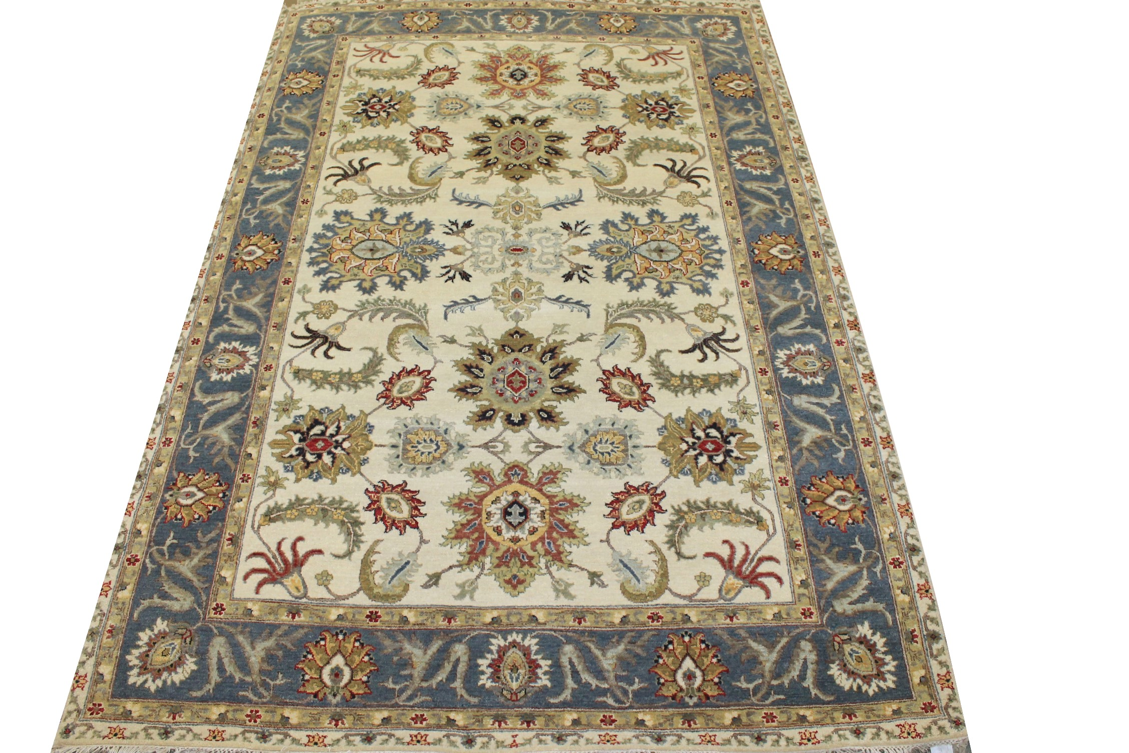 6x9 Traditional Hand Knotted Wool Area Rug - MR025262