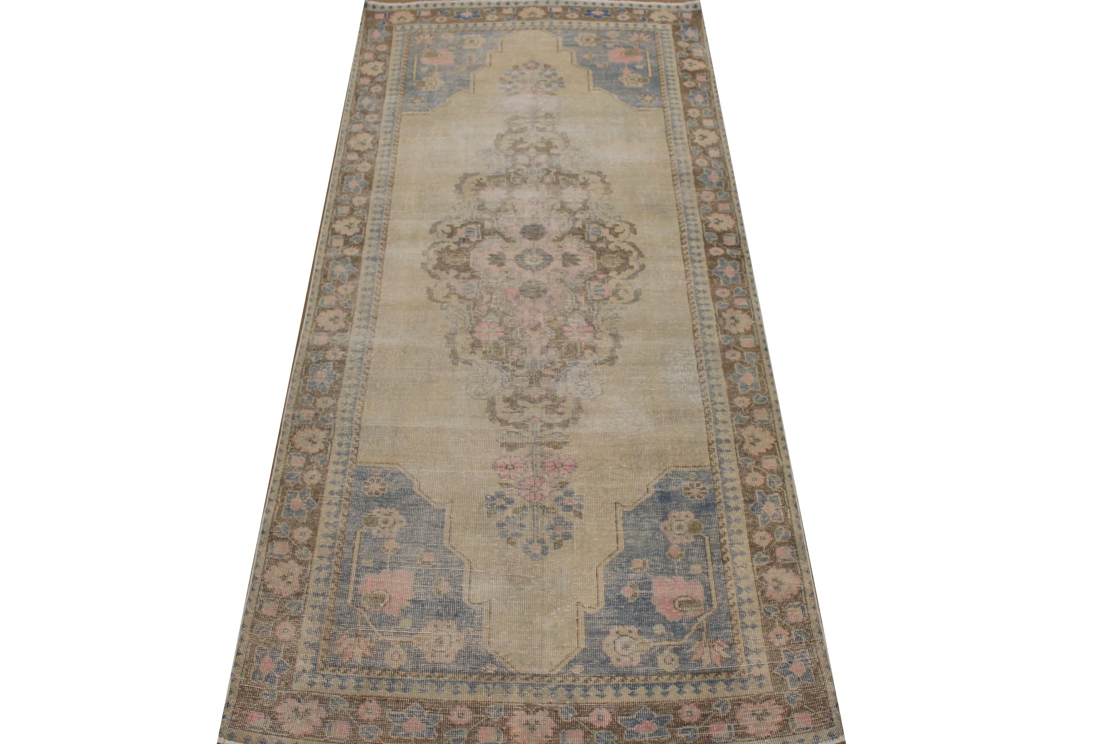 Wide Runner Vintage Hand Knotted Wool Area Rug - MR025321