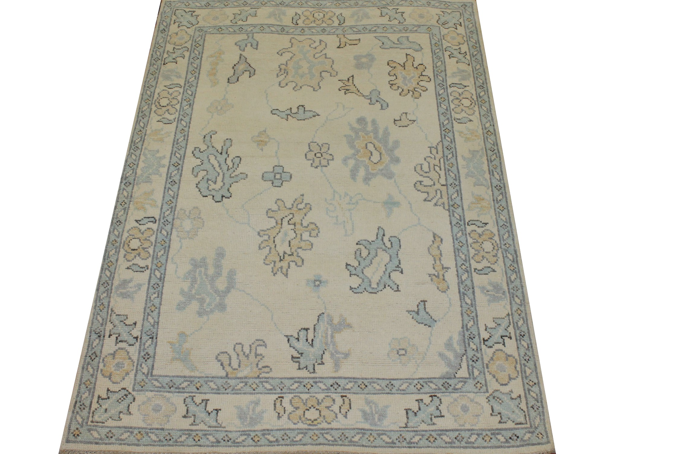4x6 Oushak Hand Knotted Wool Area Rug - MR025329