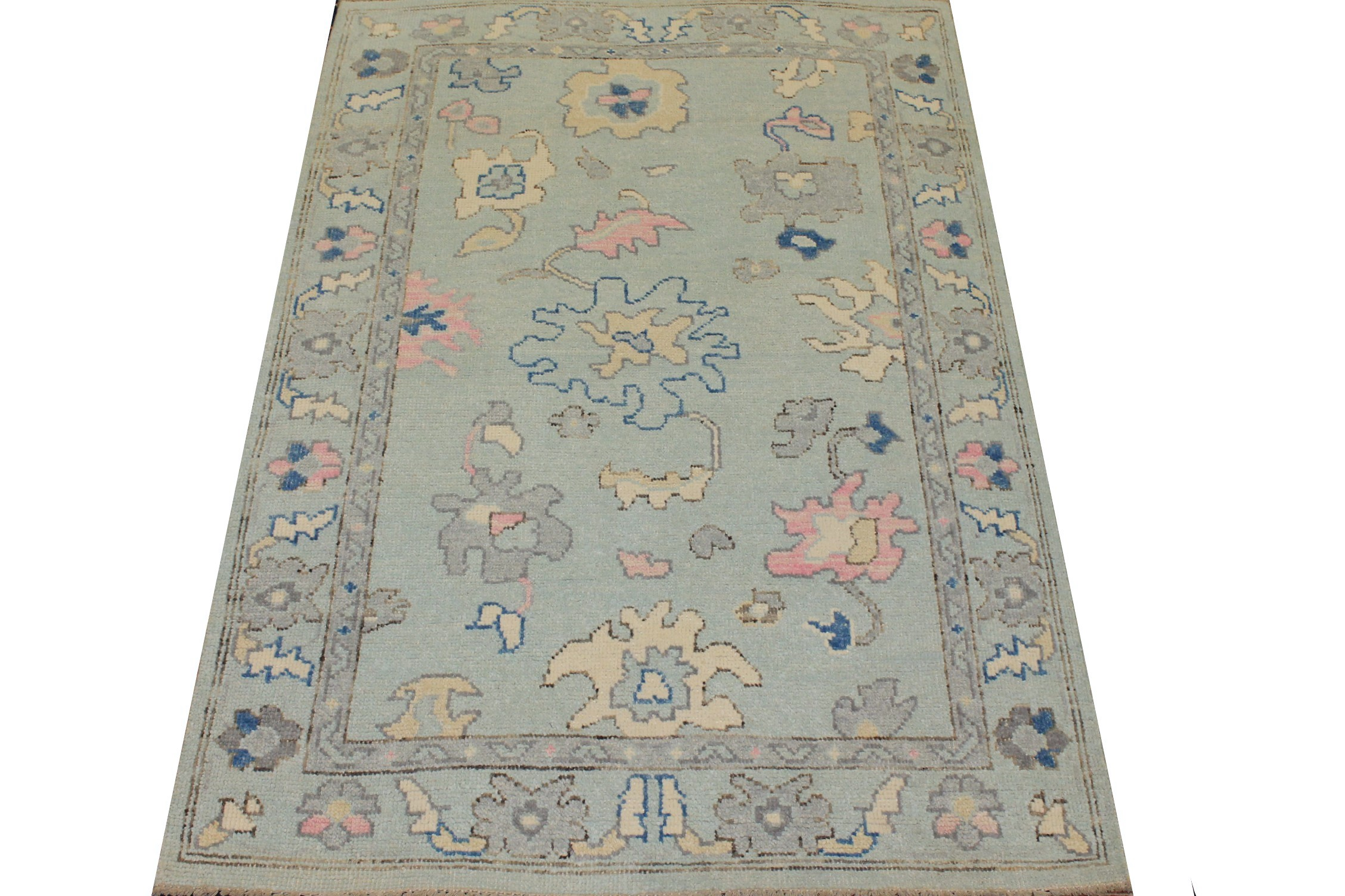 4x6 Oushak Hand Knotted Wool Area Rug - MR025330