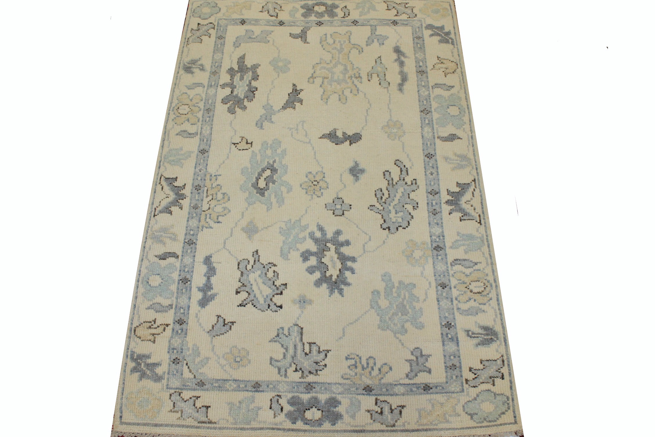 3x5 Oushak Hand Knotted Wool Area Rug - MR025335