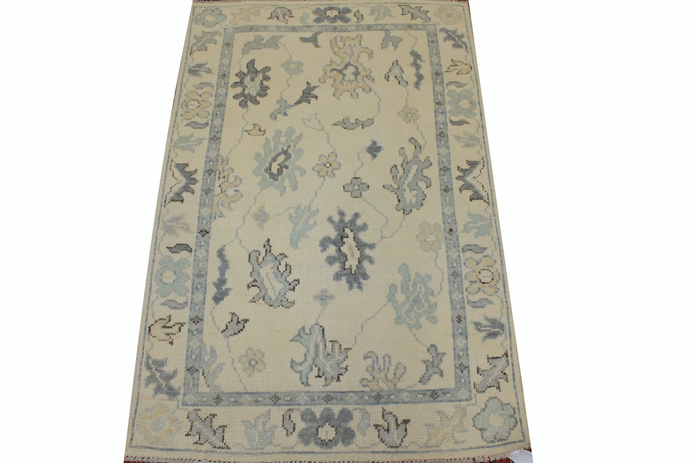 3x5 Oushak Hand Knotted Wool Area Rug - MR025336