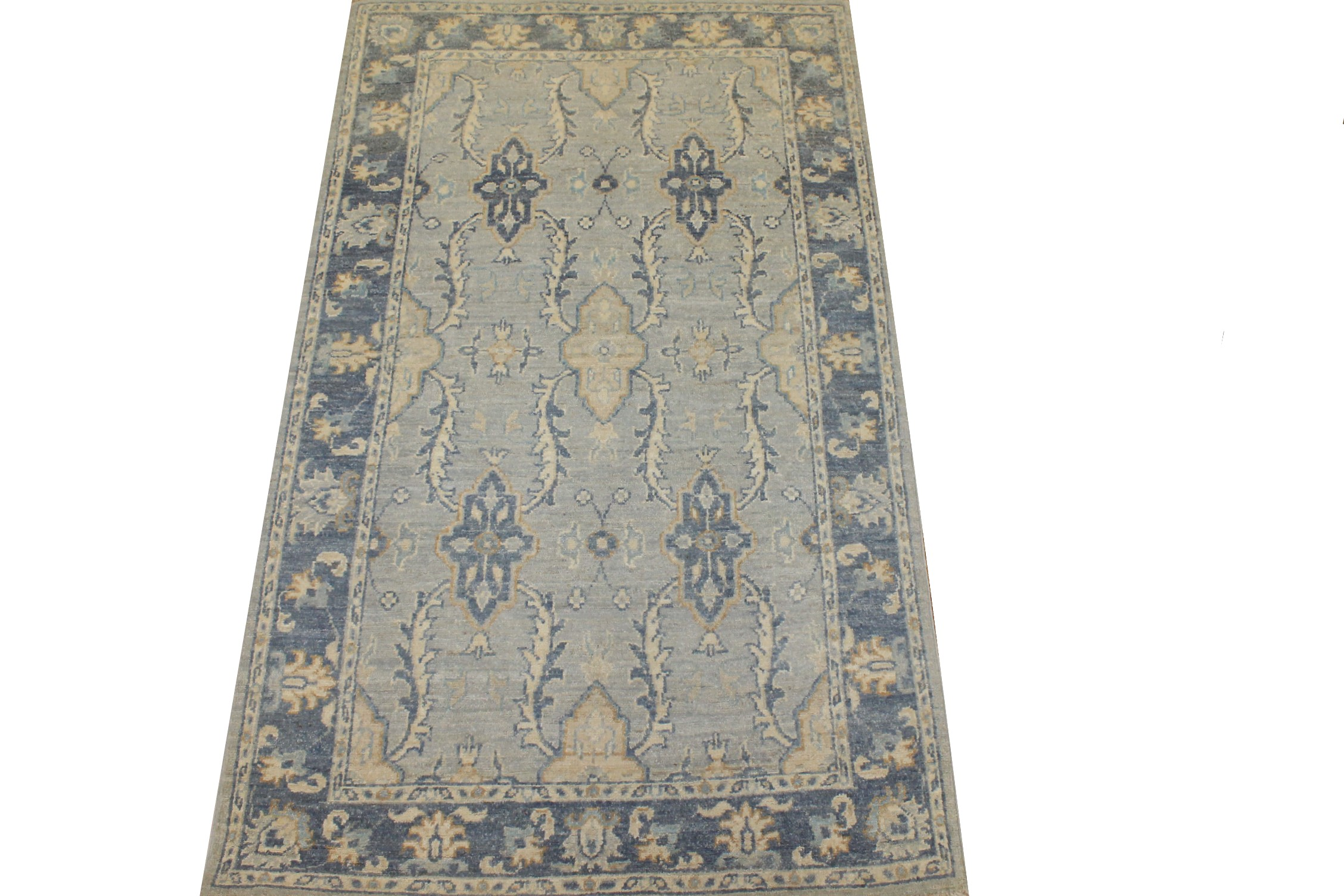 3x5 Peshawar Hand Knotted Wool Area Rug - MR025346