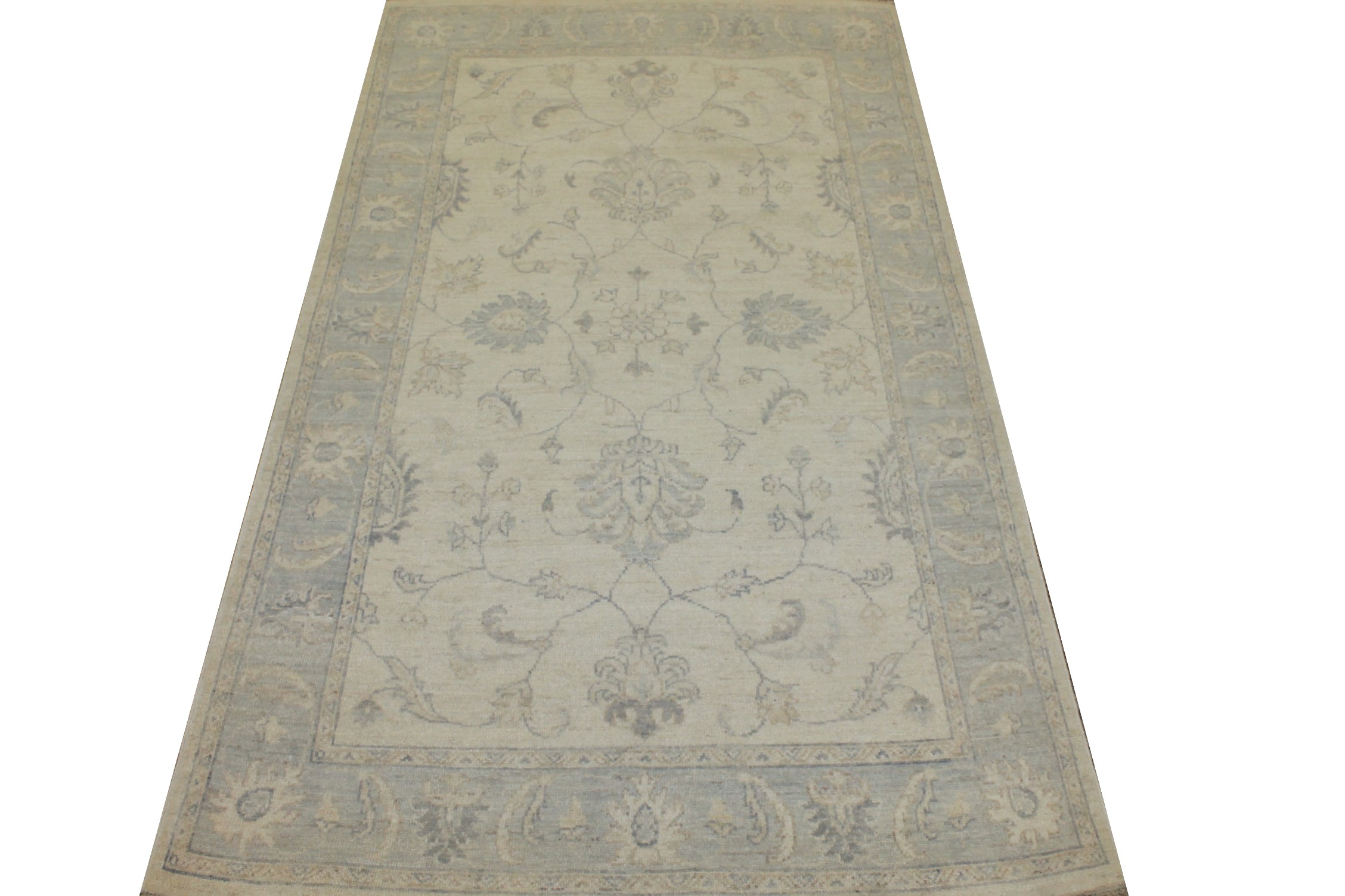 4x6 Oriental Hand Knotted Wool Area Rug - MR025350