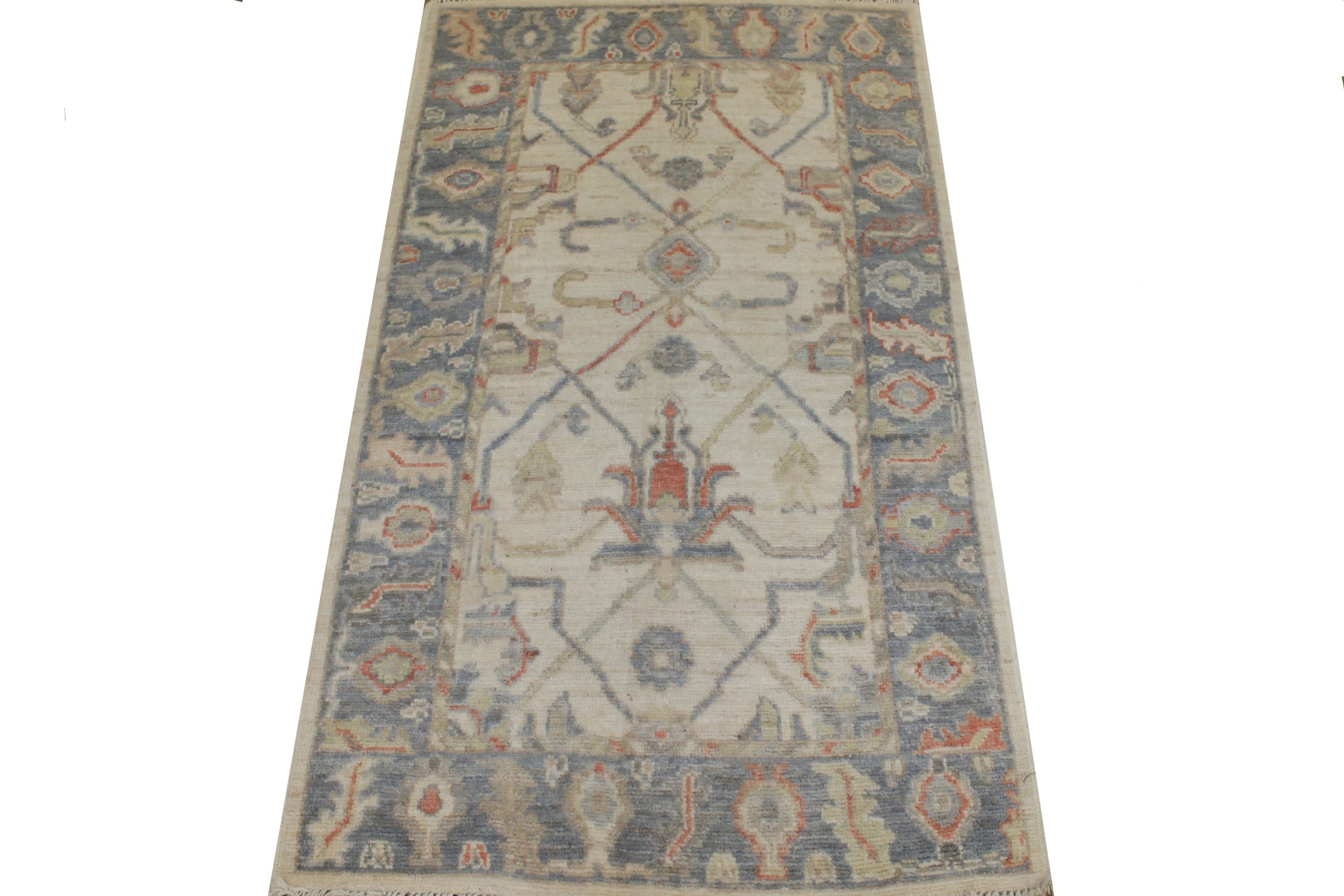 3x5 Oushak Hand Knotted Wool Area Rug - MR025413