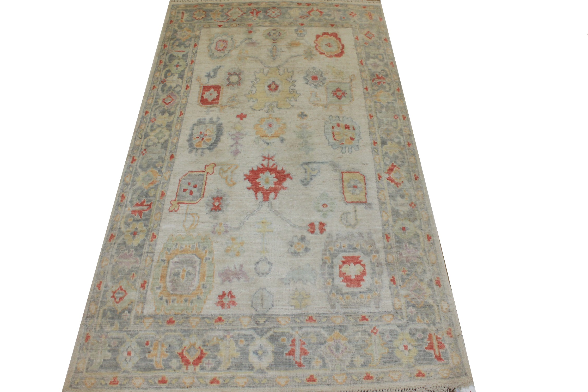 4x6 Oushak Hand Knotted Wool Area Rug - MR025420