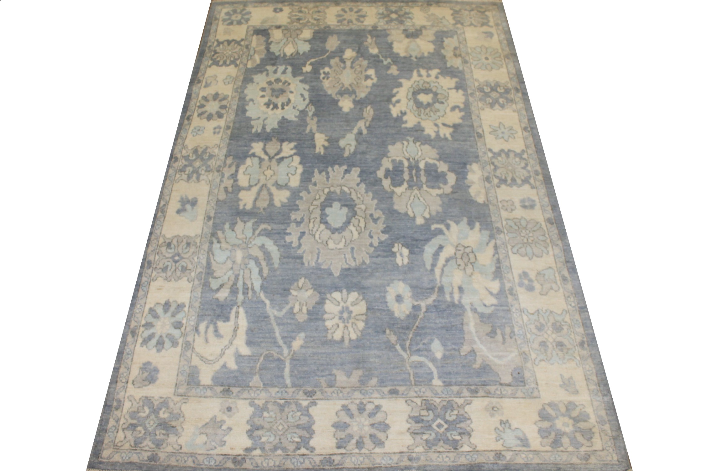 6x9 Oushak Hand Knotted Wool Area Rug - MR025425