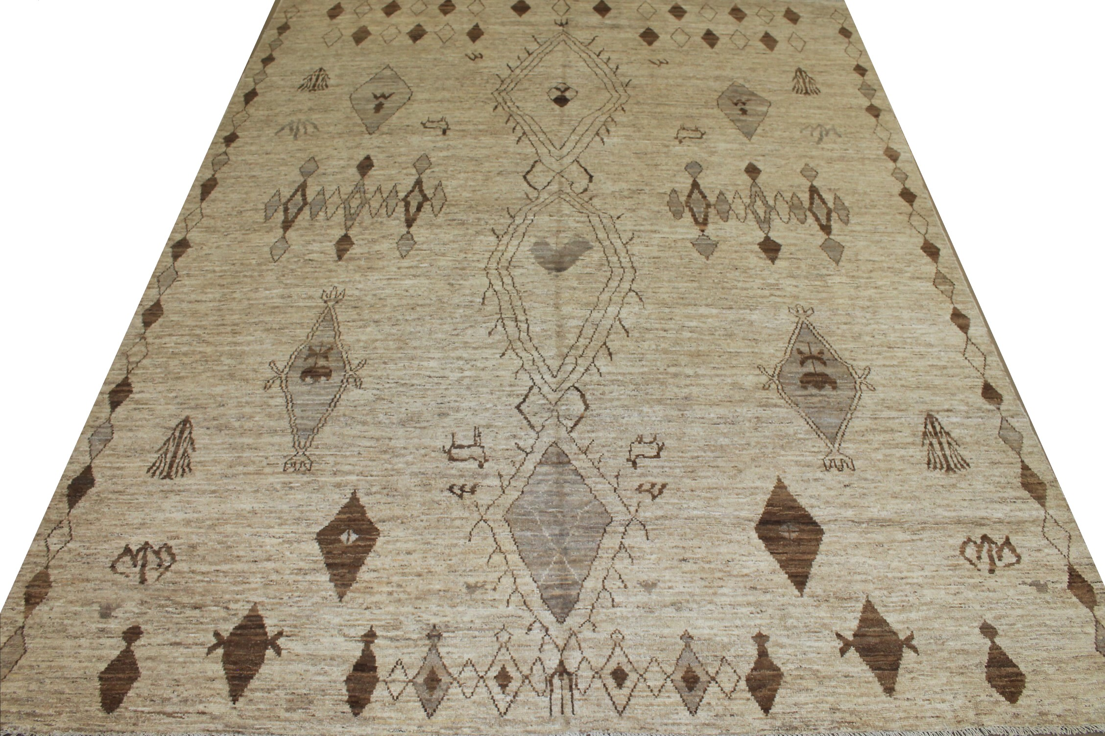 9x12 Tribal Hand Knotted Wool Area Rug - MR025431