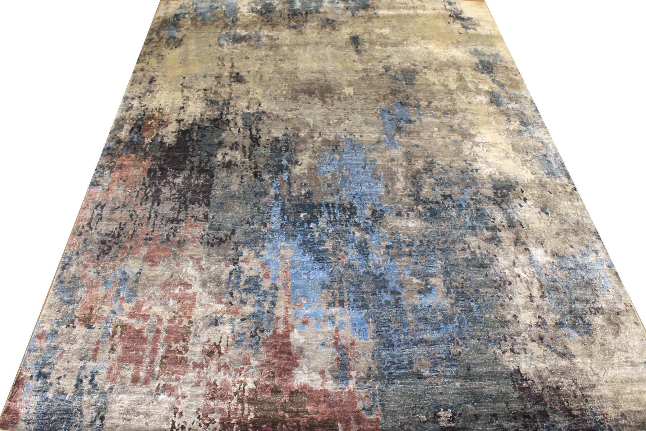 8x10 Modern Hand Knotted Wool & Viscose Area Rug - MR025449
