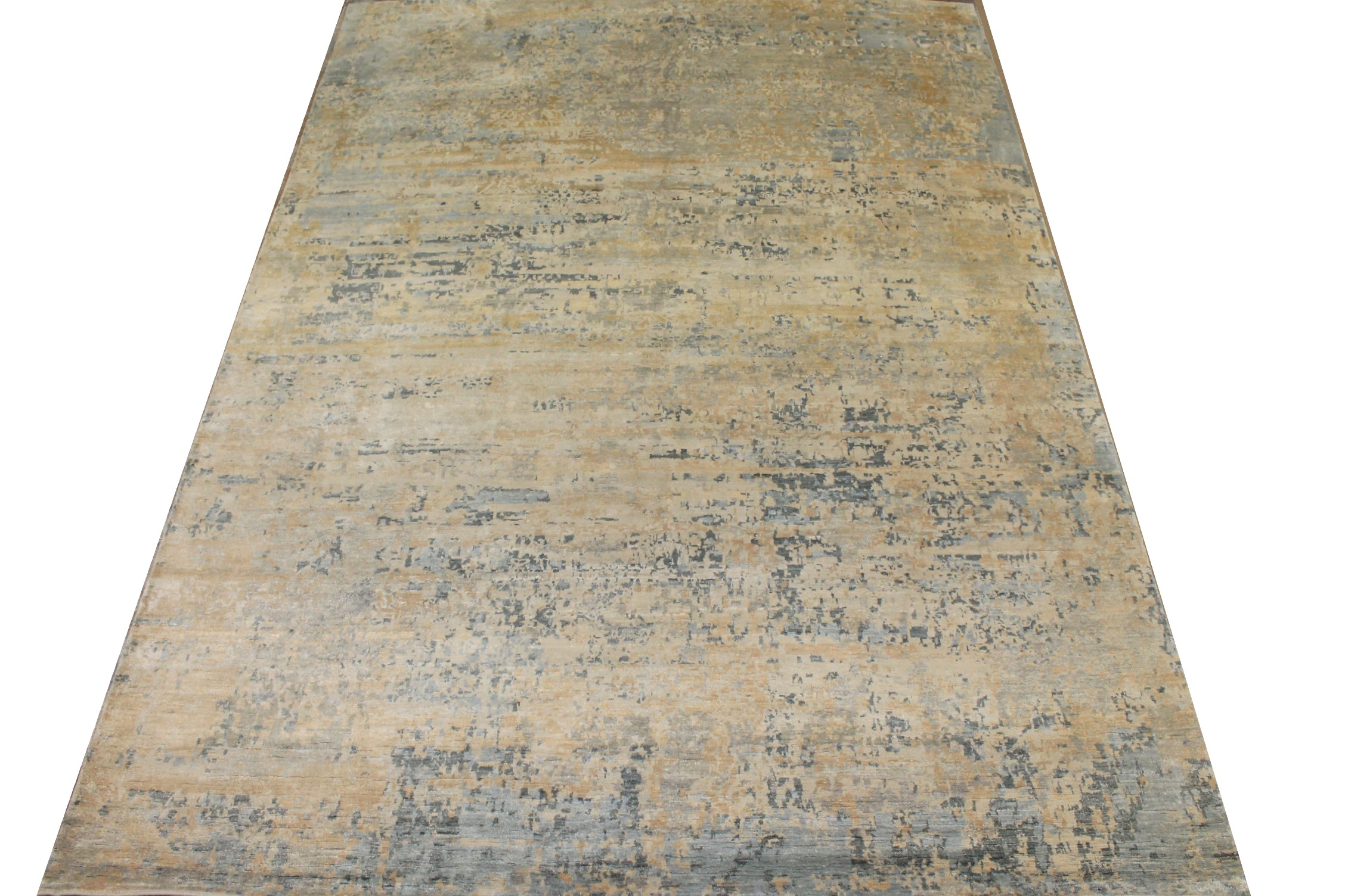 9x12 Modern Hand Knotted Wool & Viscose Area Rug - MR025452