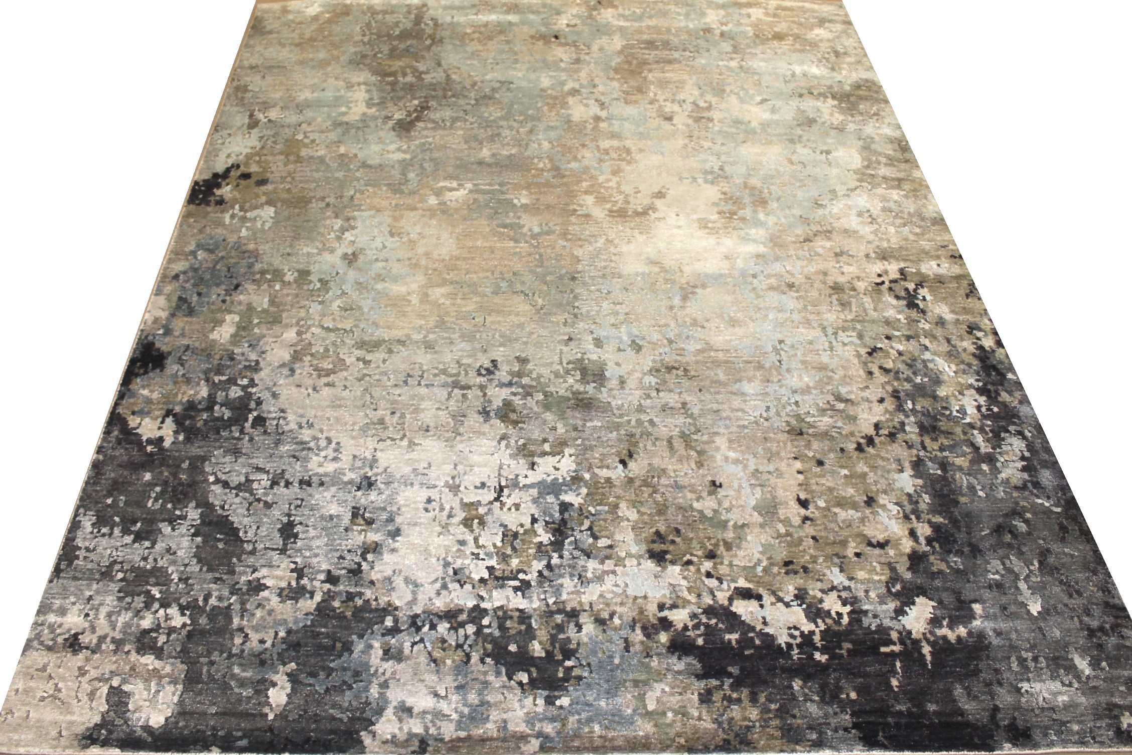 8x10 Modern Hand Knotted Wool & Viscose Area Rug - MR025453
