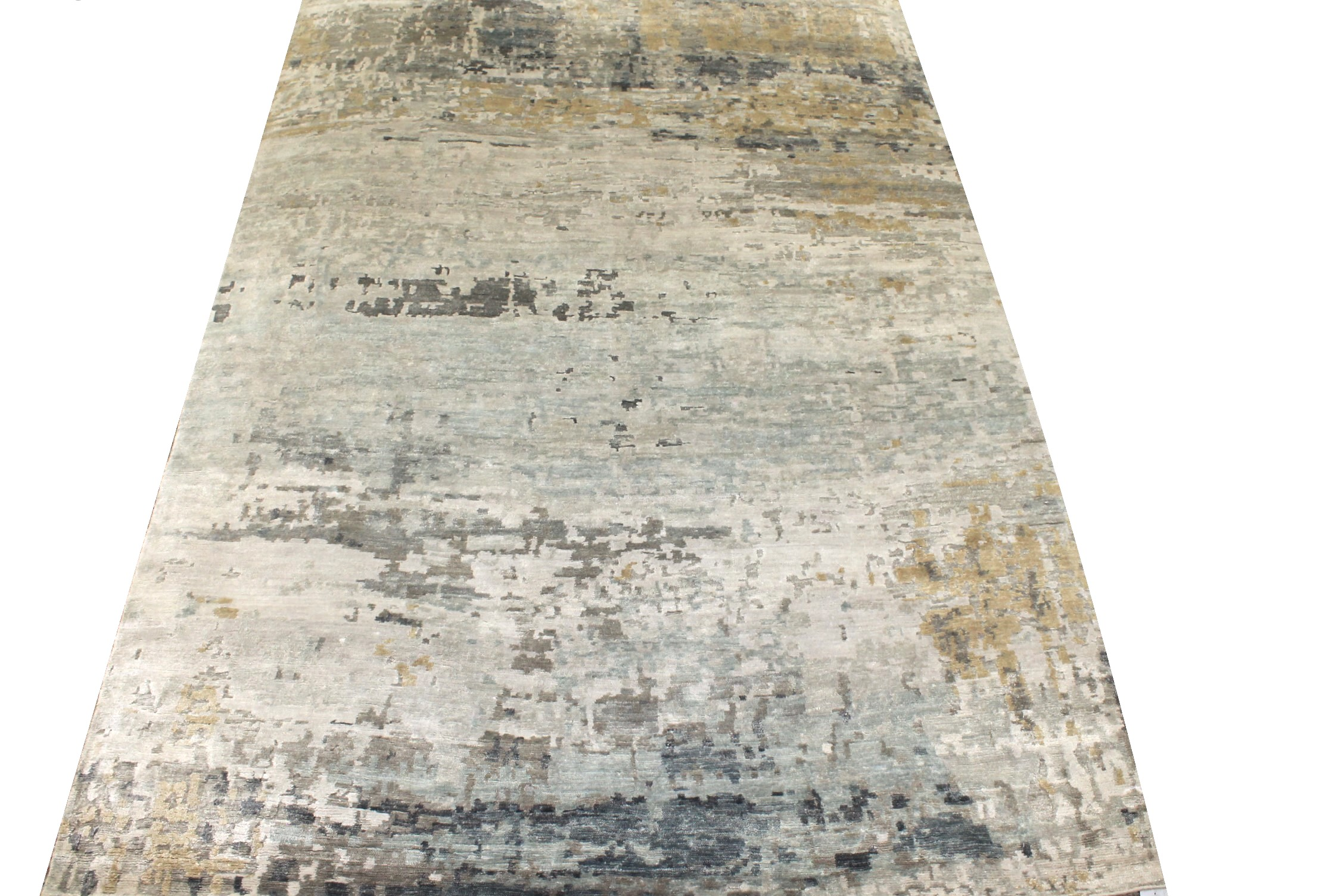 6x9 Modern Hand Knotted Wool & Viscose Area Rug - MR025454
