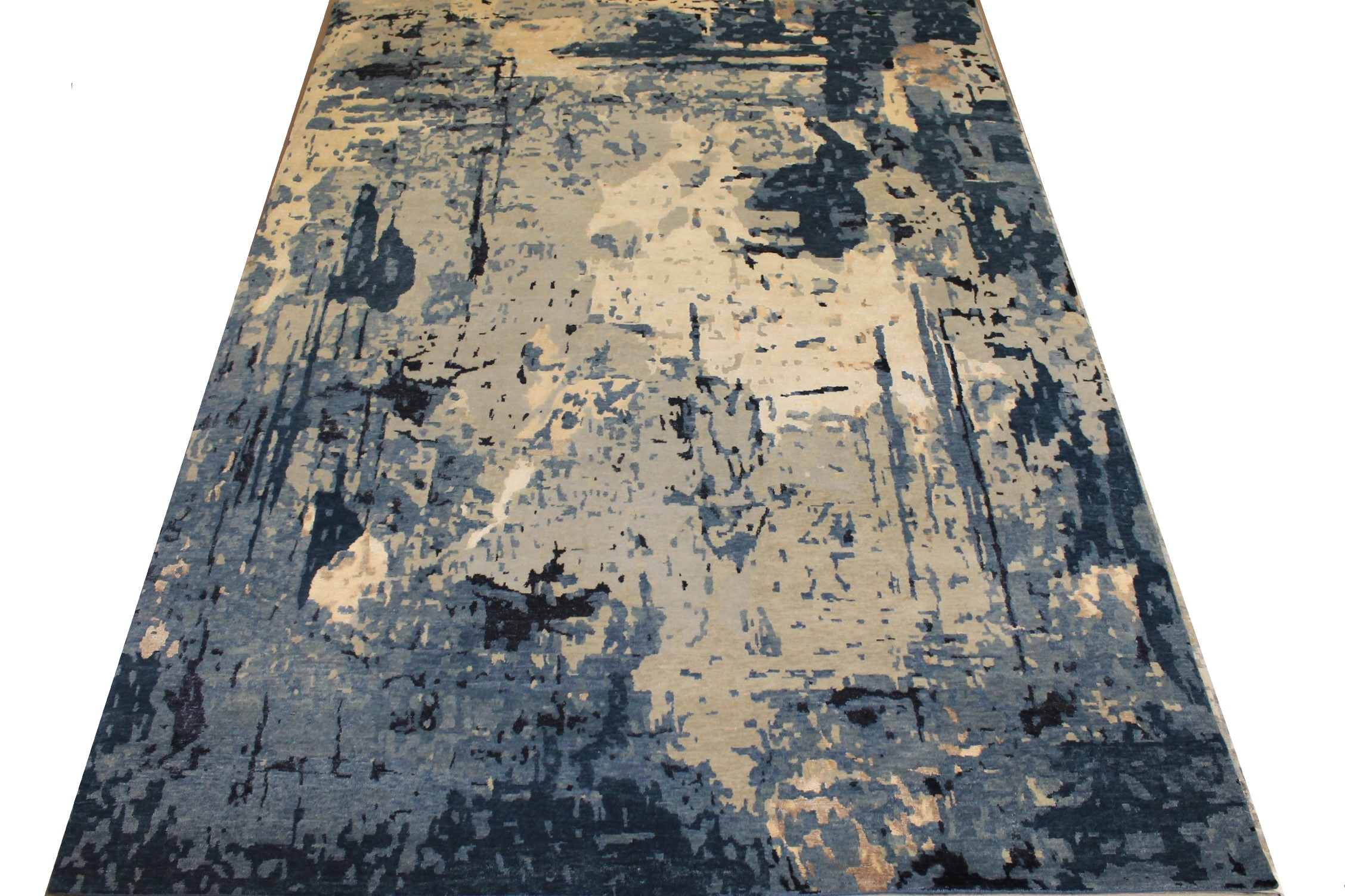 9x12 Modern Hand Knotted Wool & Viscose Area Rug - MR025457