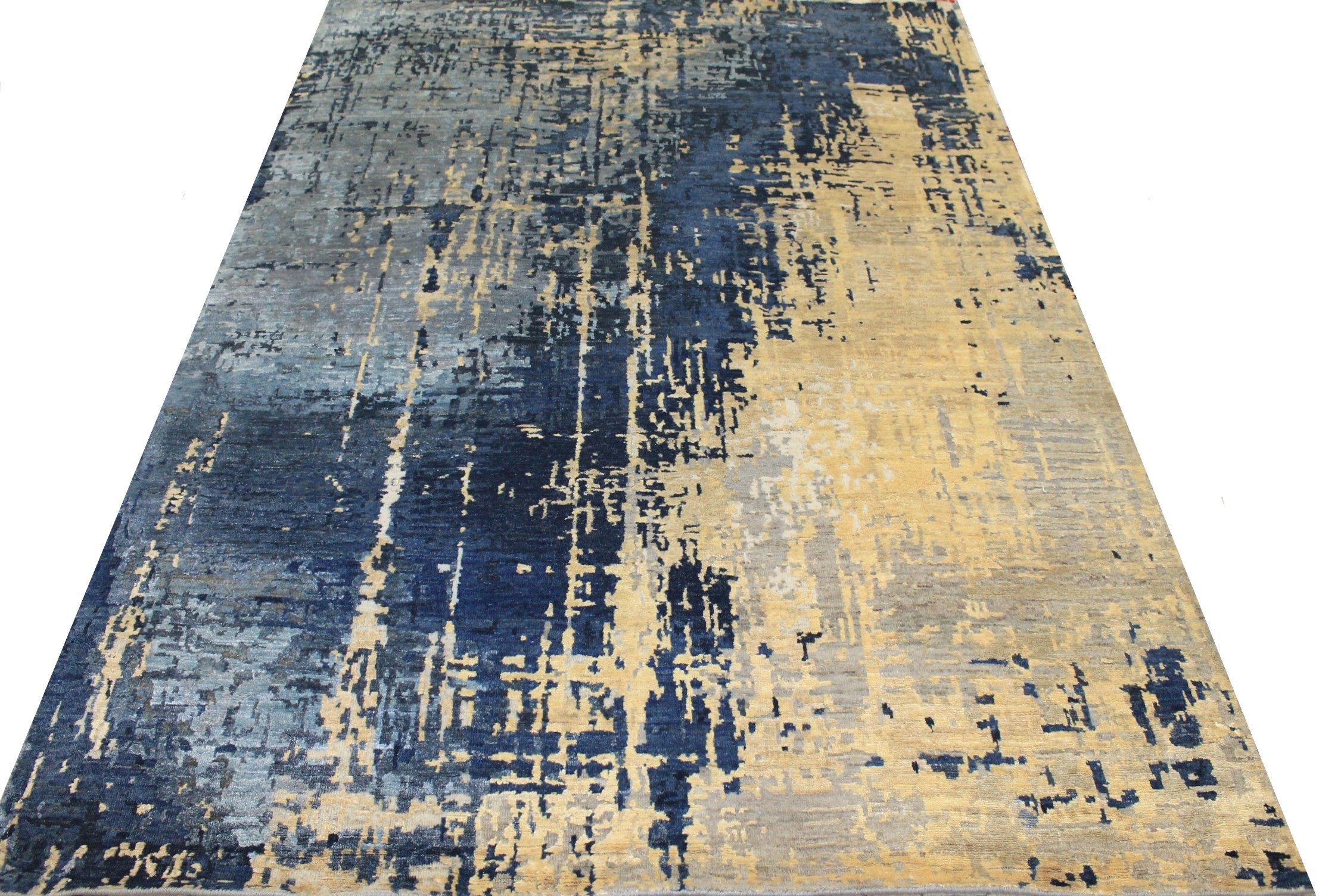 5x7/8 Modern Hand Knotted Wool & Viscose Area Rug - MR025459