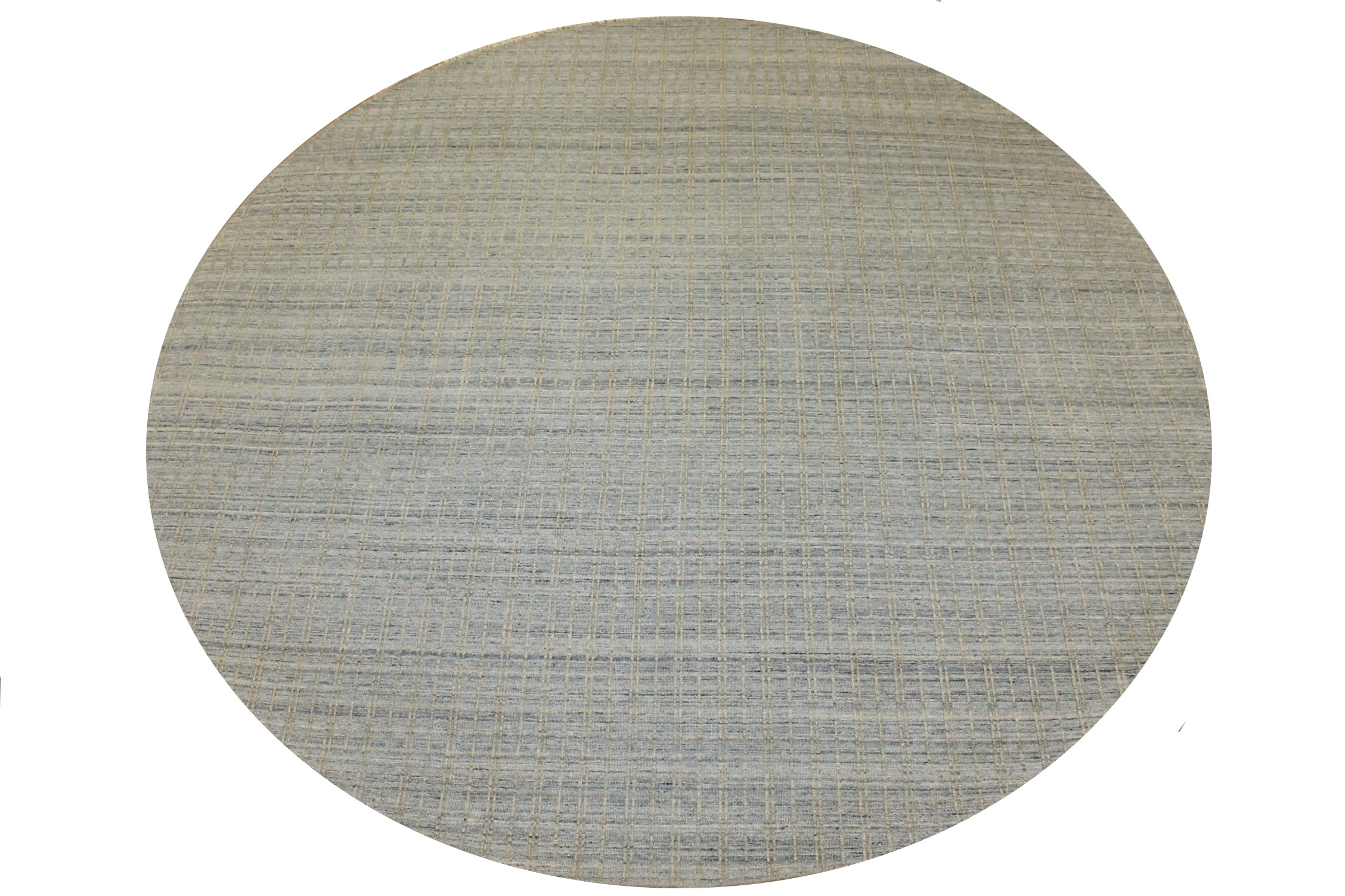 8 ft. Round & Square Casual Hand Knotted Wool Area Rug - MR025460
